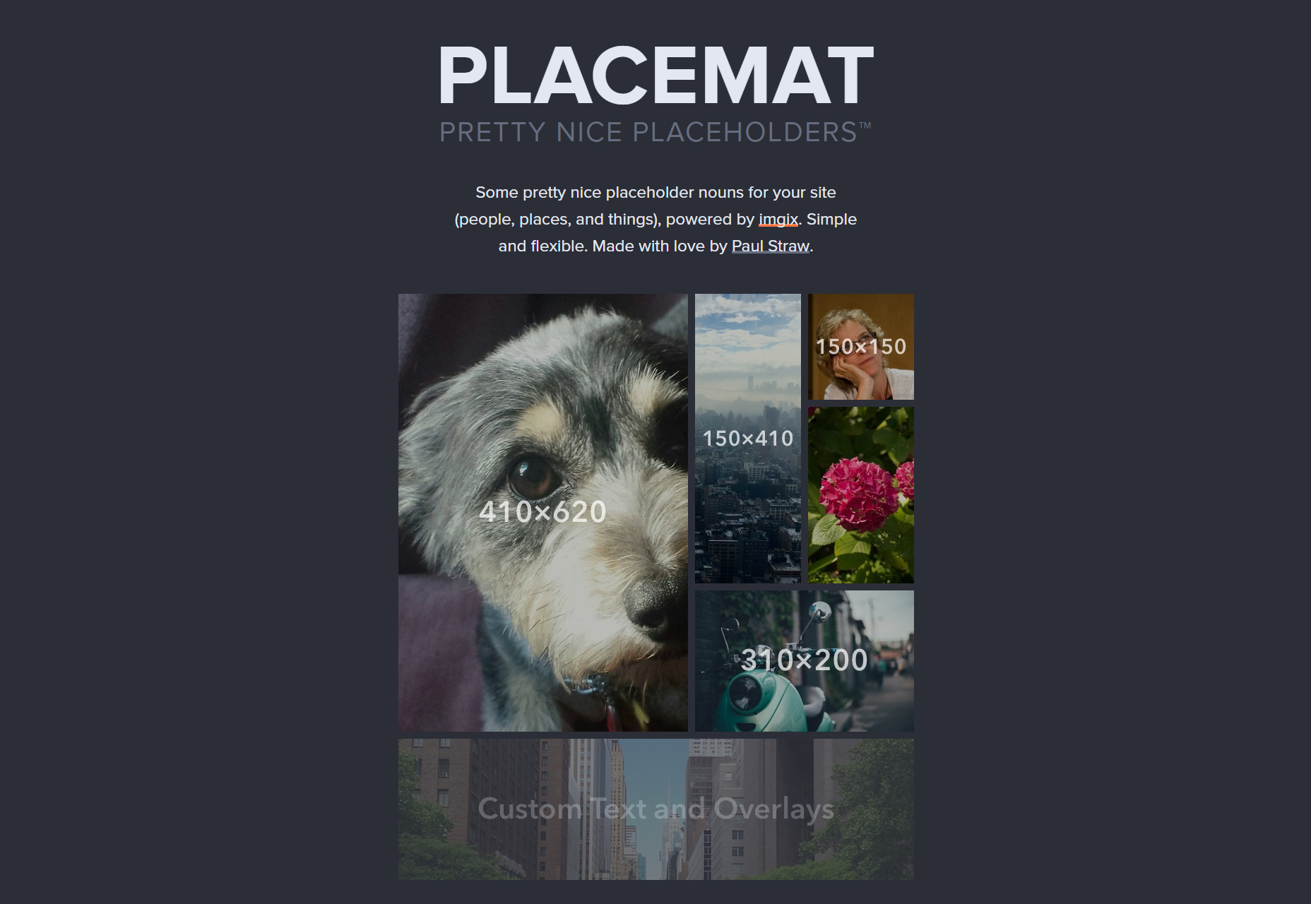 Placemat: Pretty URL Image Placeholders
