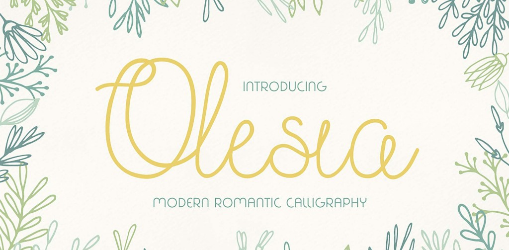 Free Download: Olesia Font