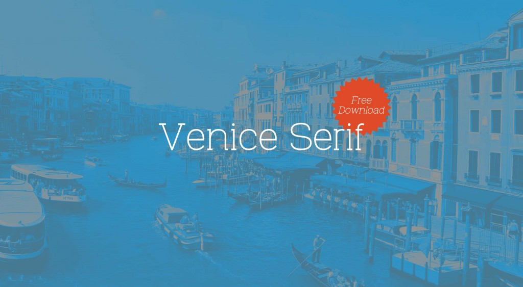 Free download: Venice Serif font