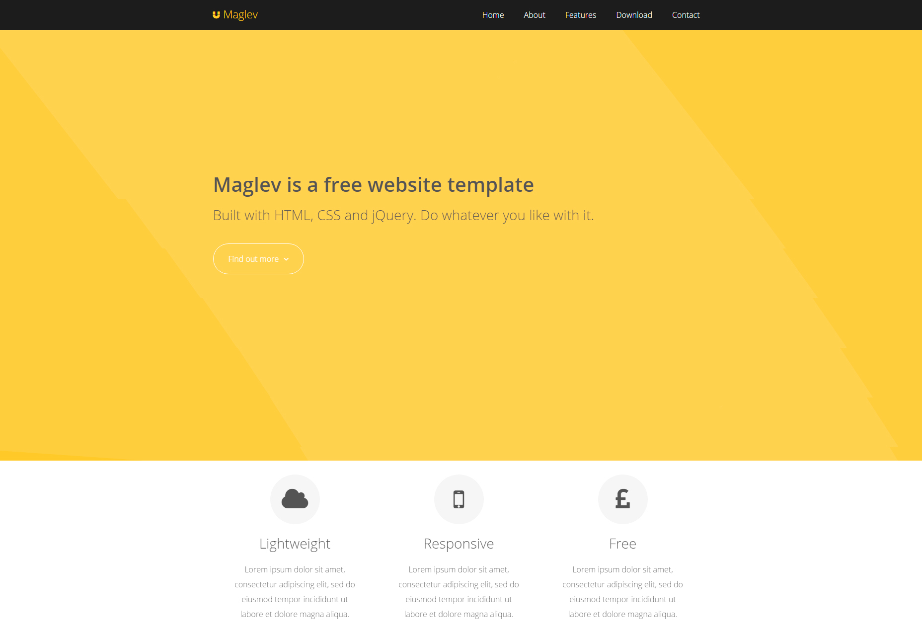 Maglev: Flat Customizable HTML Template