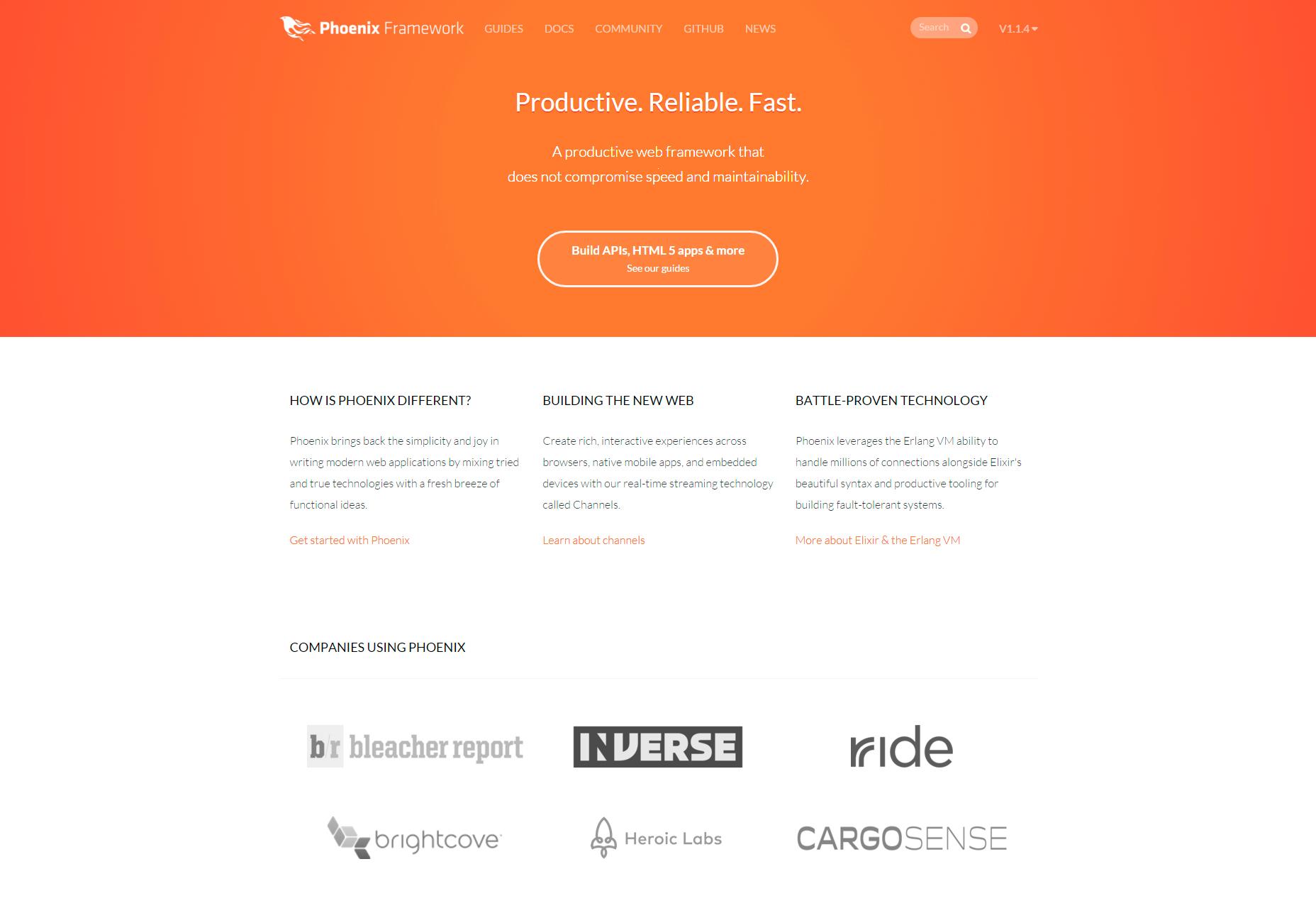 Phoenix: Productive Web Framework