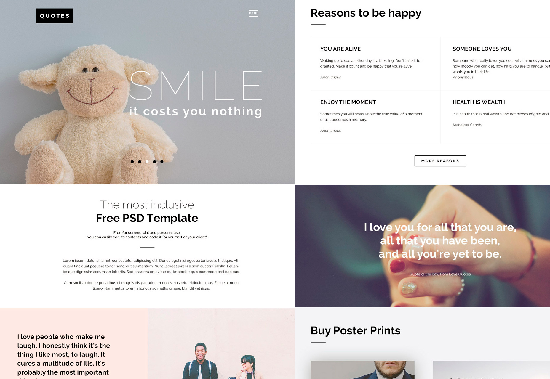 QUOTES: Versatile PSD Website Template