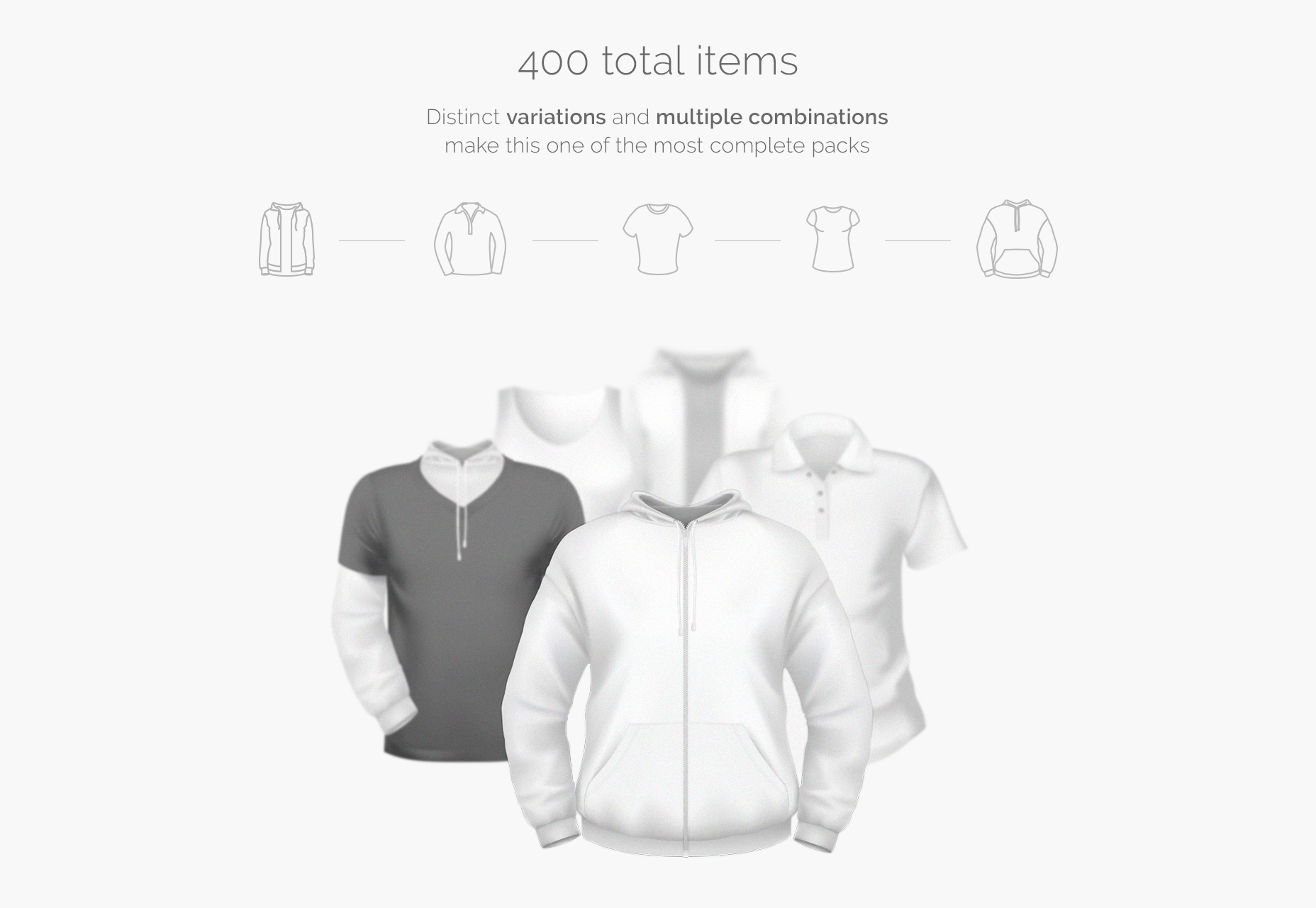T-Shirt & Hoodies PSD Mockup Set