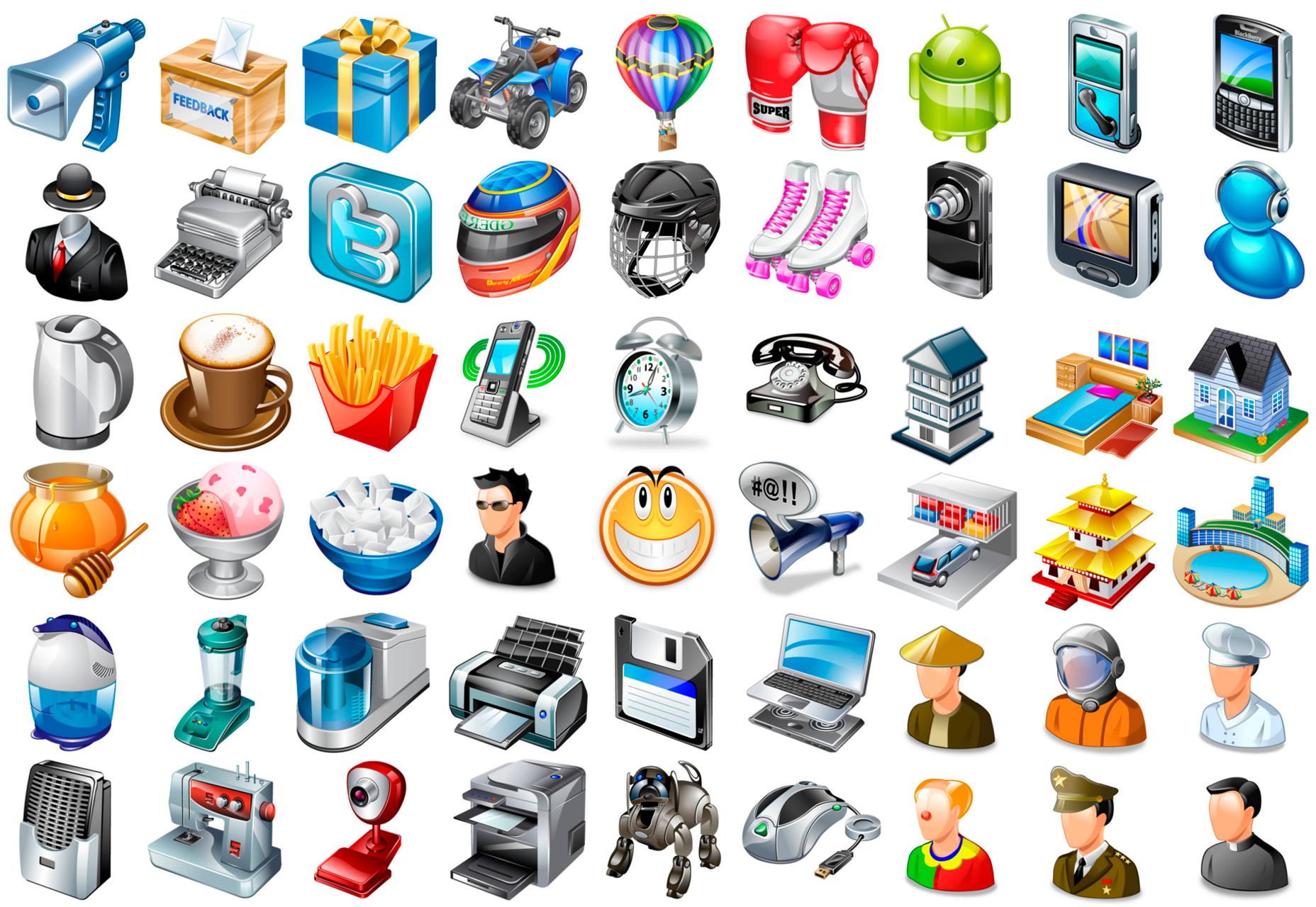 91k  Realistic Desktop Icons Bundle