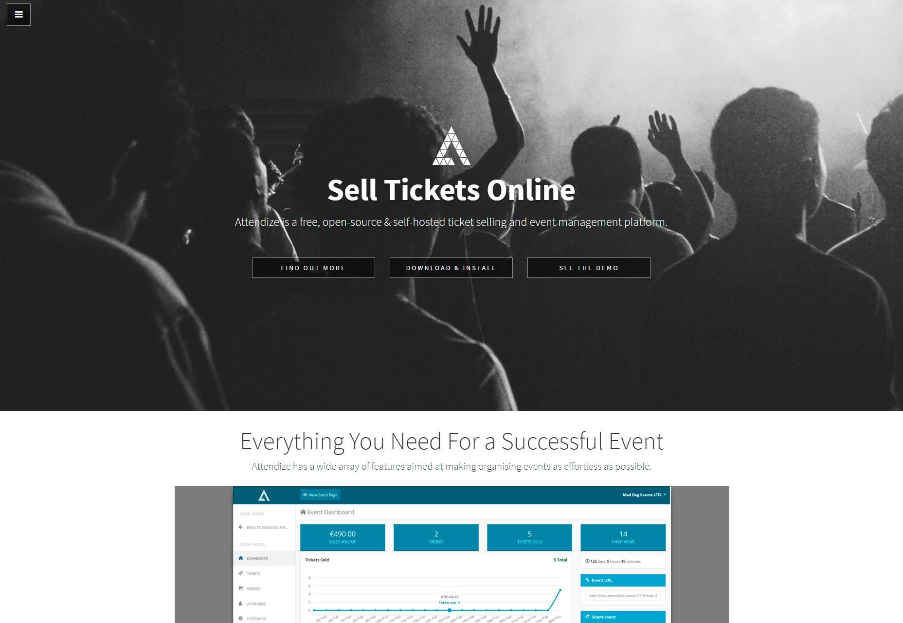 Attendize: Ticket Selling & Event Management Platform