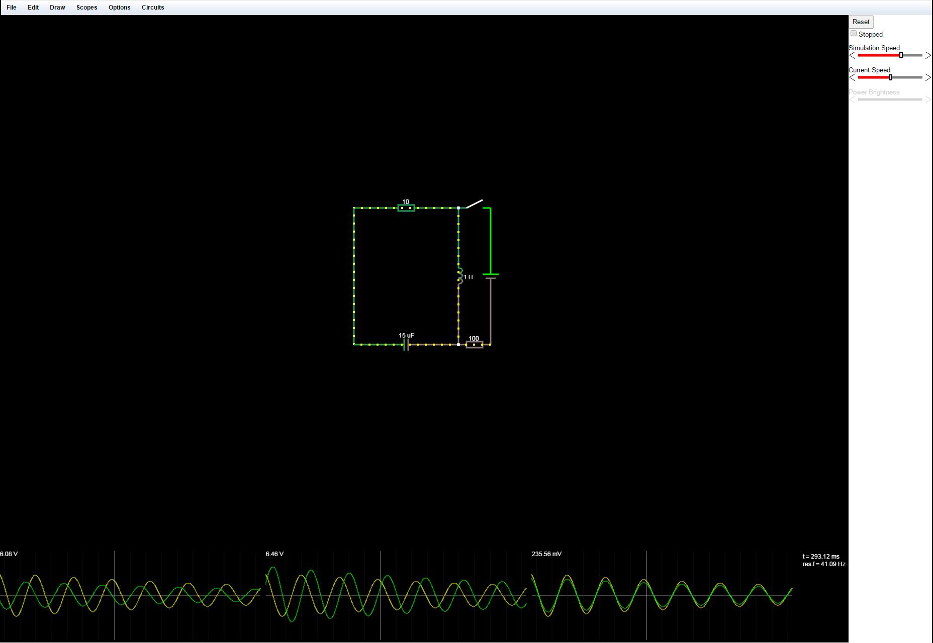 Circuit.js: InBrowser Electronic Circuit Simulator