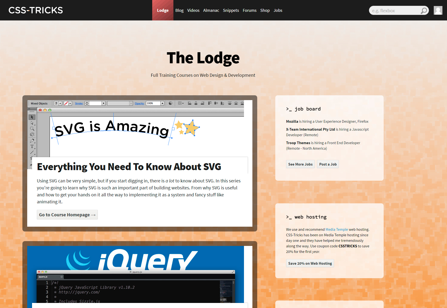 CSS-Tricks' Lodge: Free Web Developing Courses