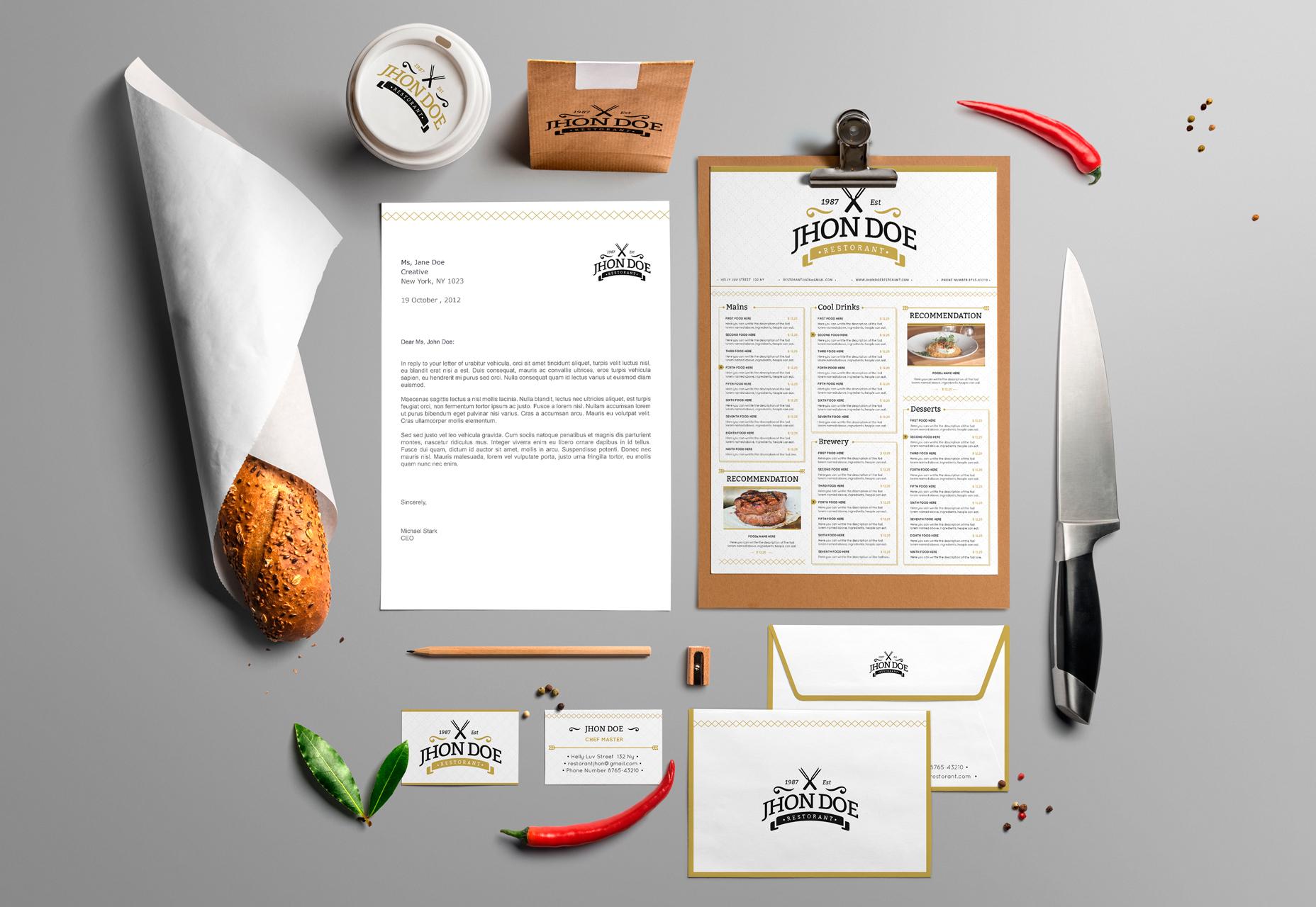 Elegant Brand Identity PSD & Ai Pack