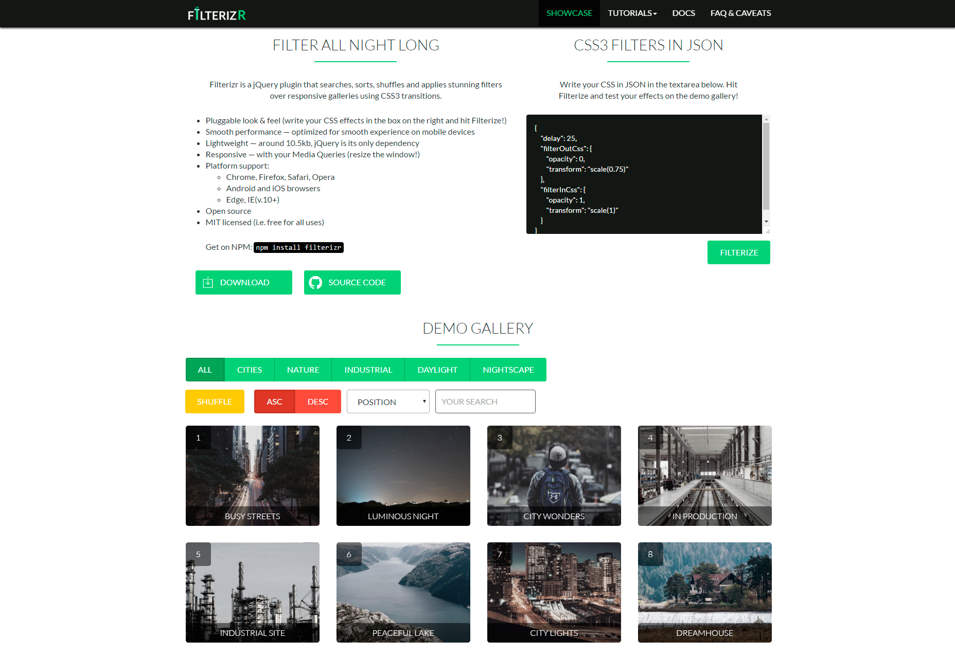 Filterizr: Responsive Galleries Custom Filters