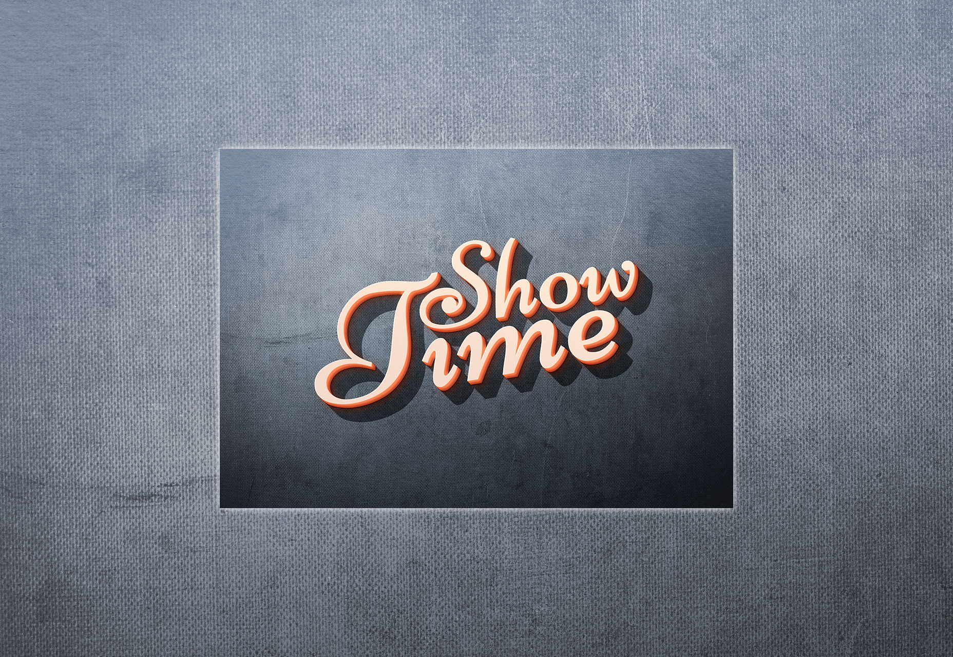 Showtime: Appealing 3D Text Effect