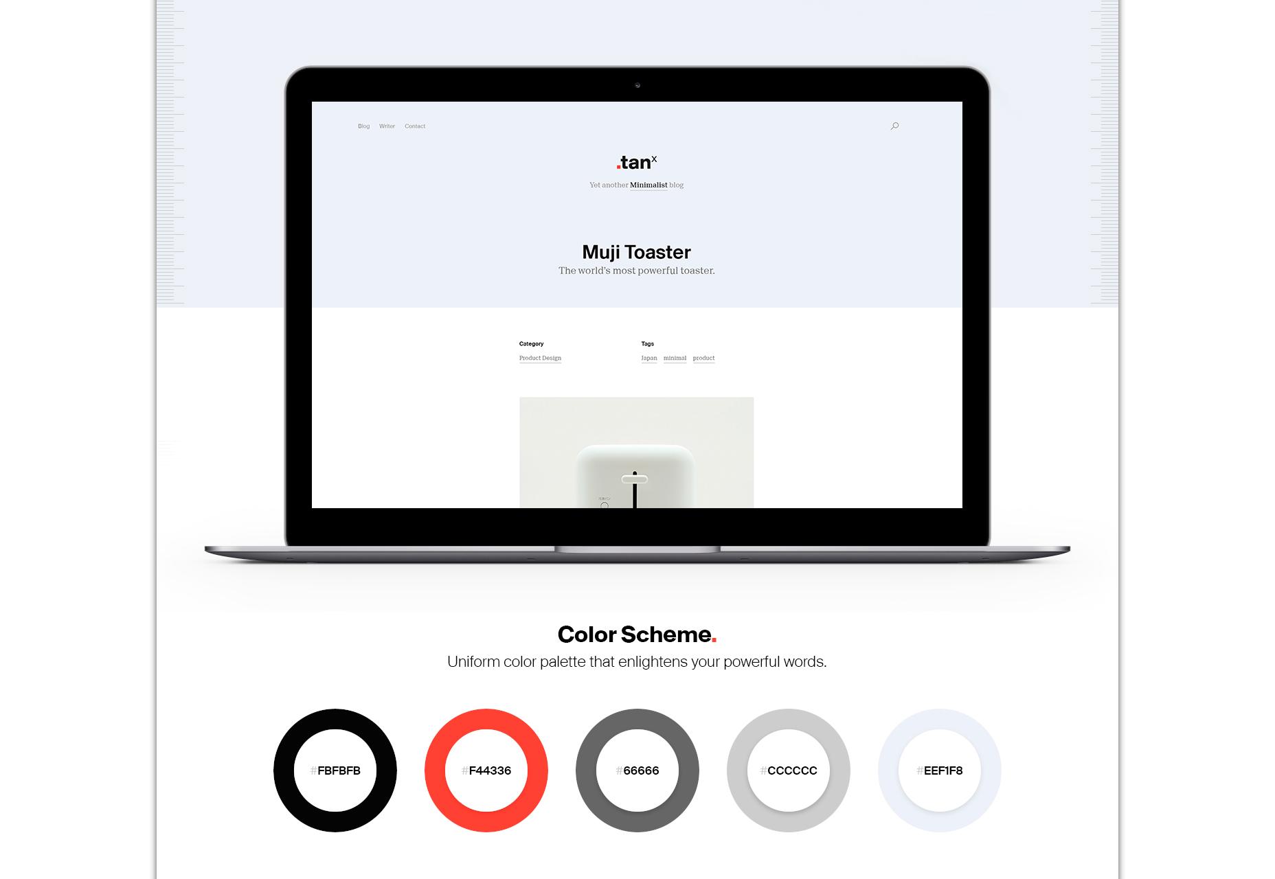 TANx: Beautiful Blog WordPress Theme