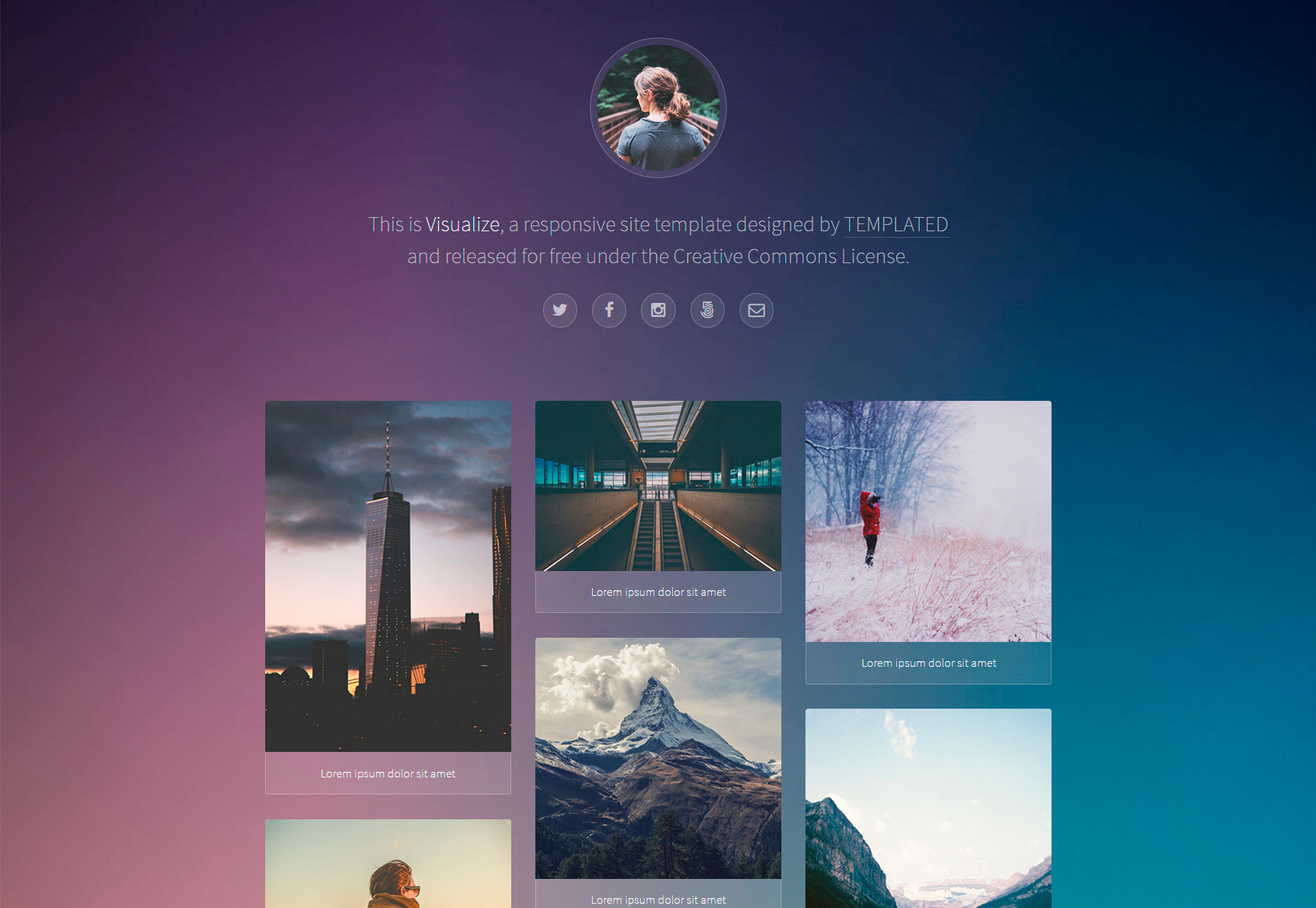 Visualize: Nice Responsive Web Portfolio  Template