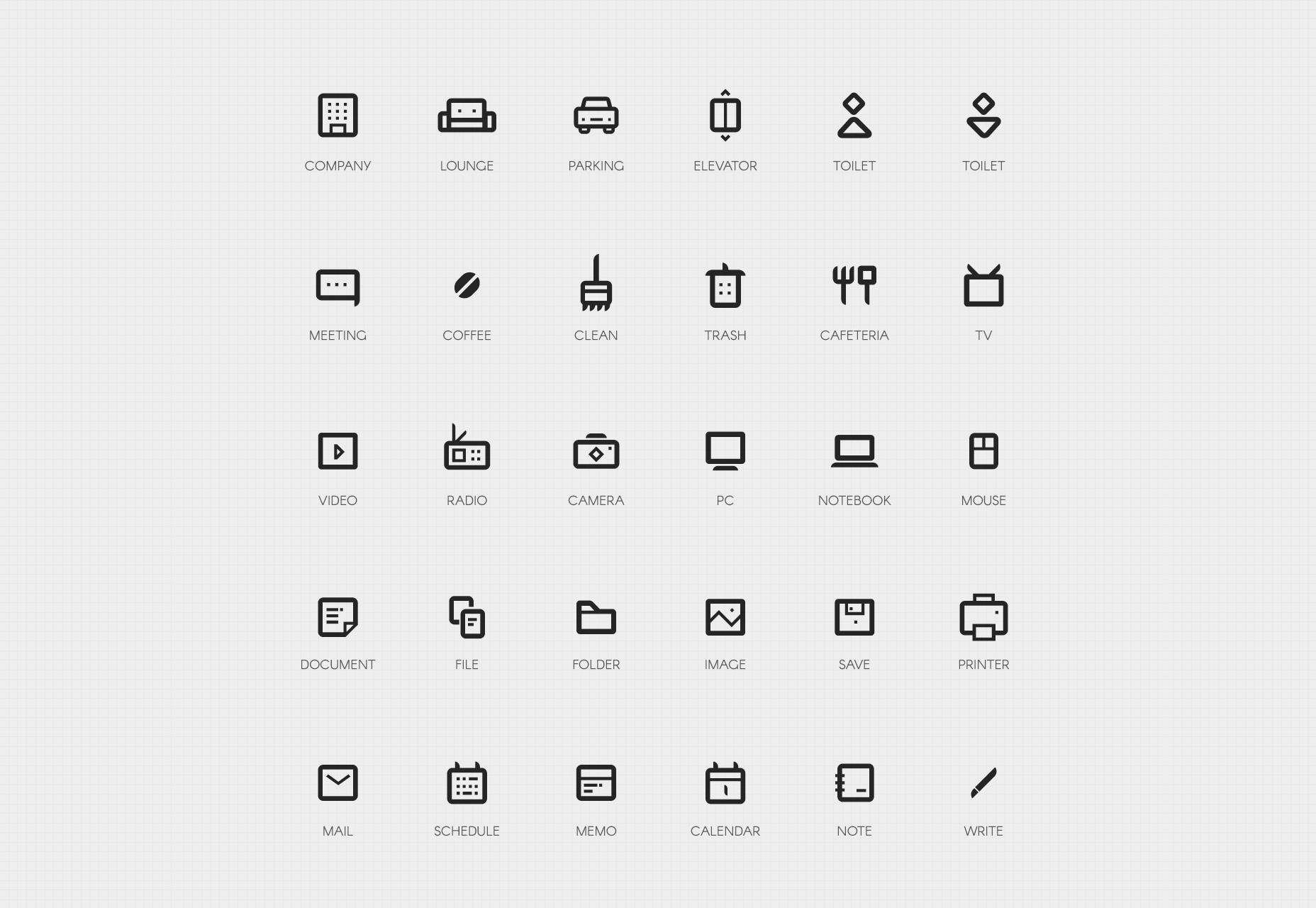 50 Company Bold Line Icons Set