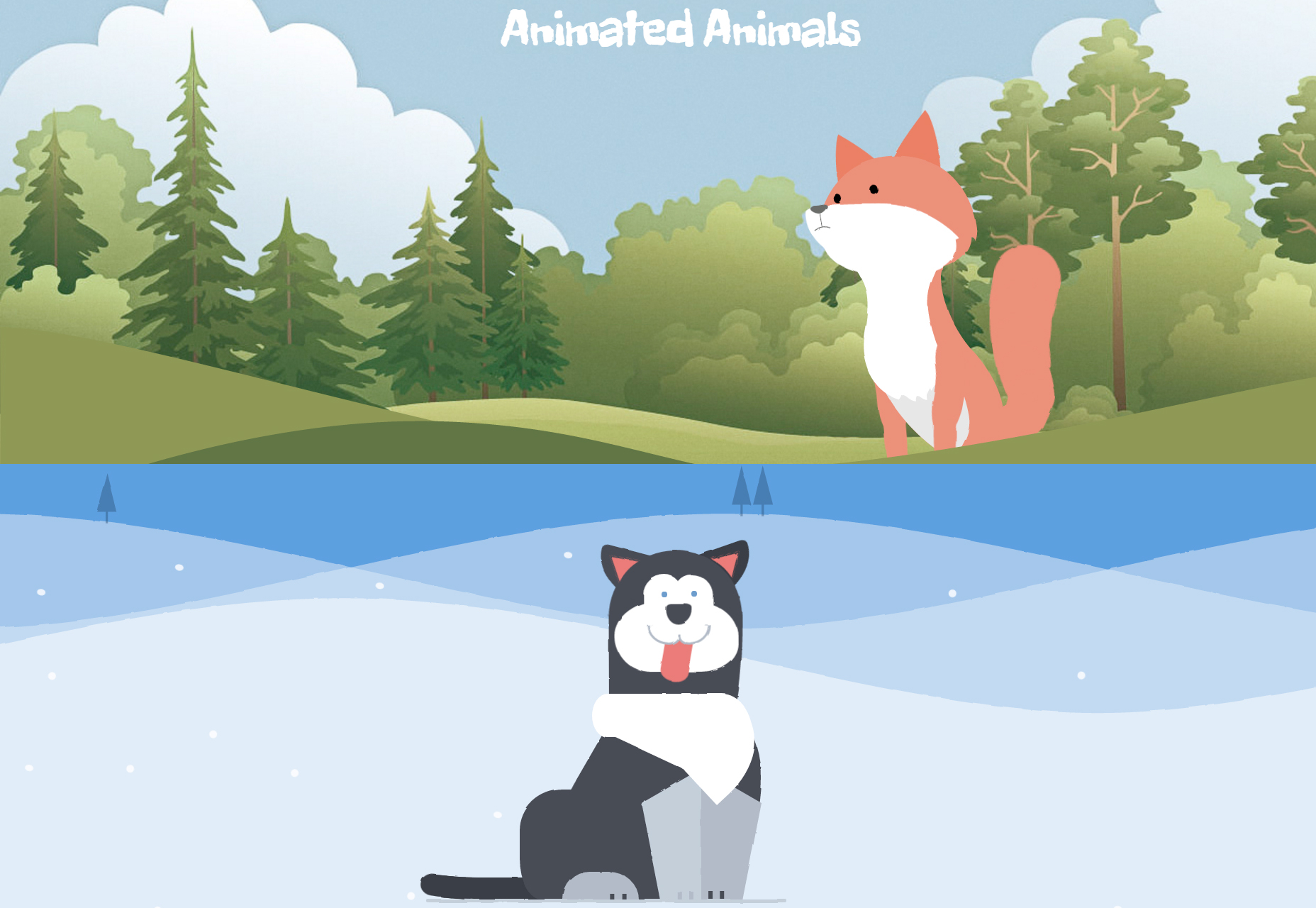 Animated Animals in CSS & SVG