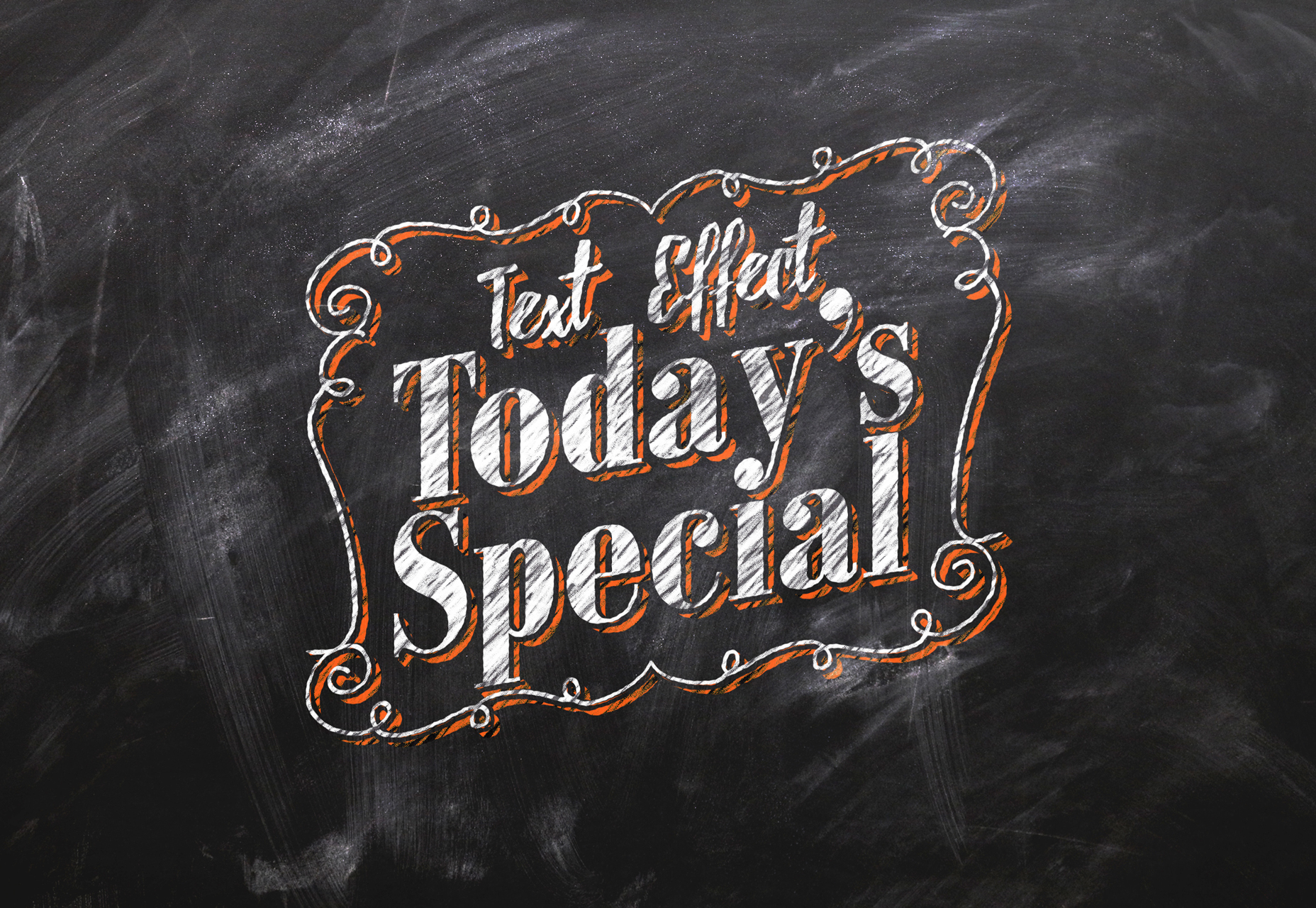Chalkboard Photoshop Text Effect