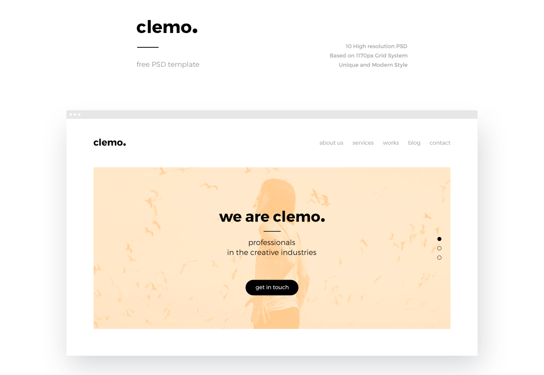 Clemo: Clean & Modern Blogging PSD Template