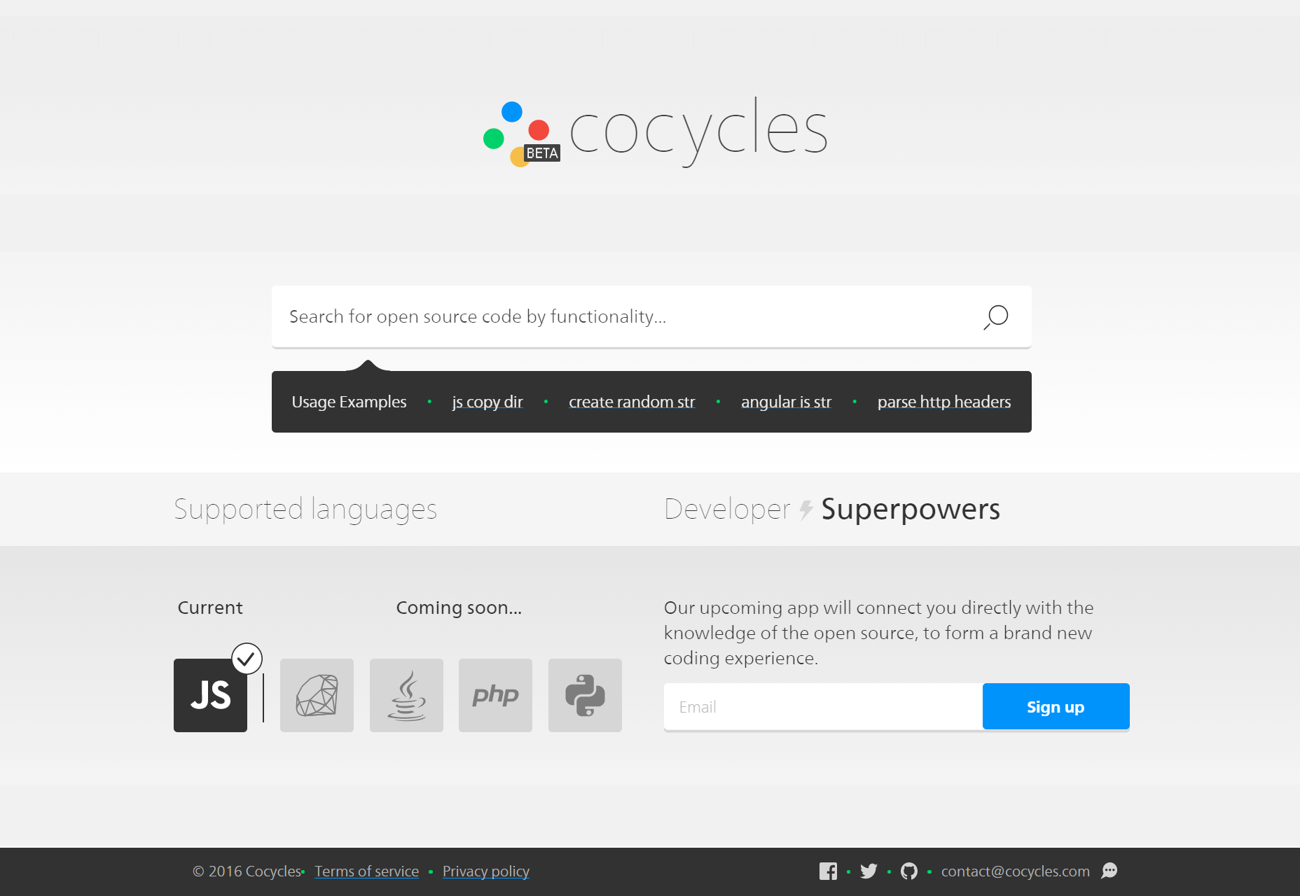 Cocycles: Functionality Code Search