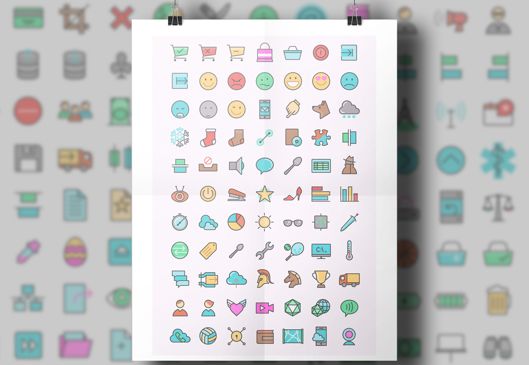 Colorful General Icons Set