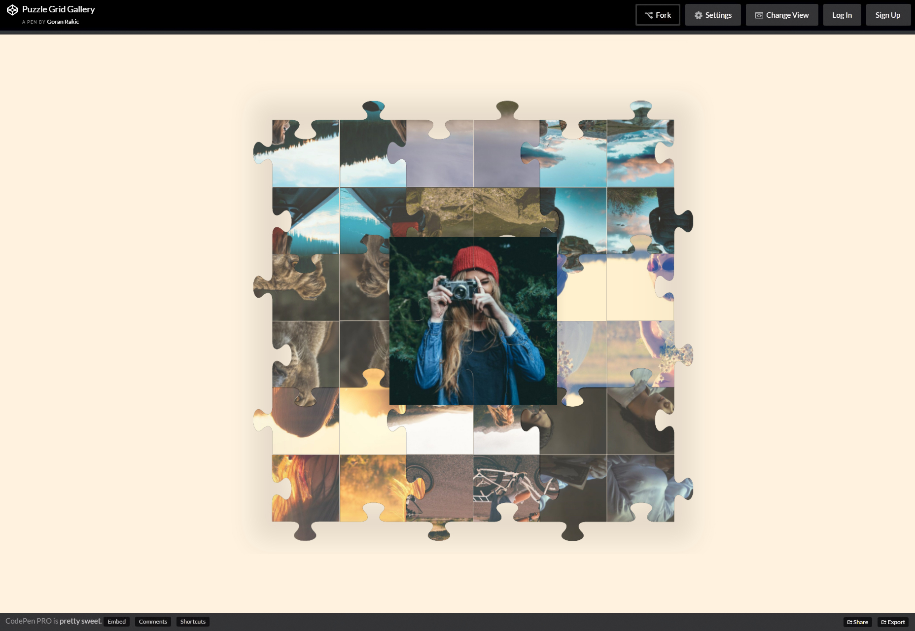 CSS Animated Puzzle Hover Grid Gallery