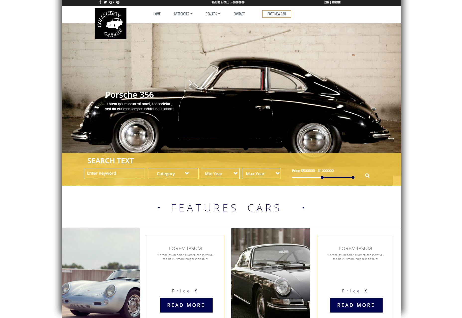 Garage: Car Retail Business Bootstrap Theme