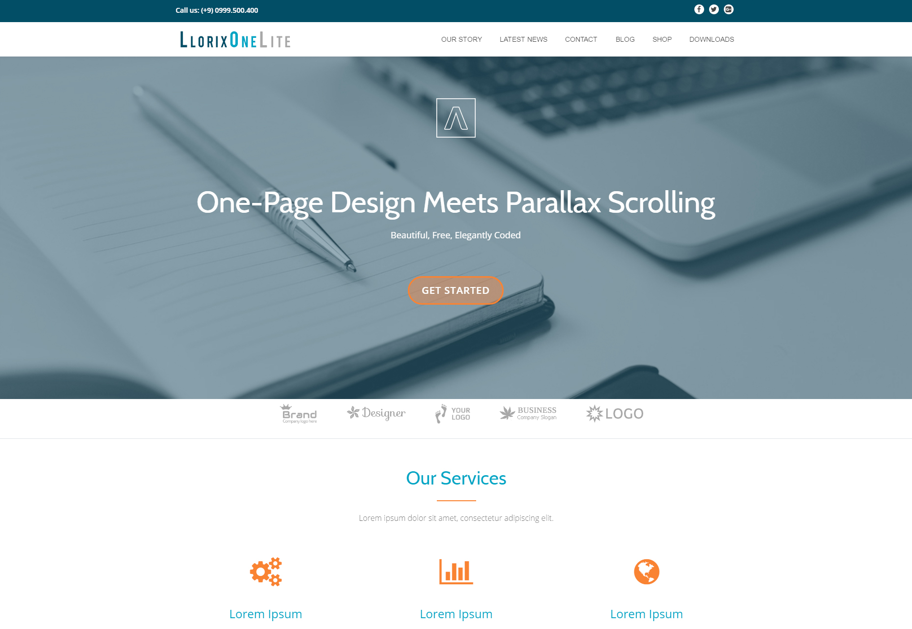 Llorix One Lite: Neat Business WordPress Theme