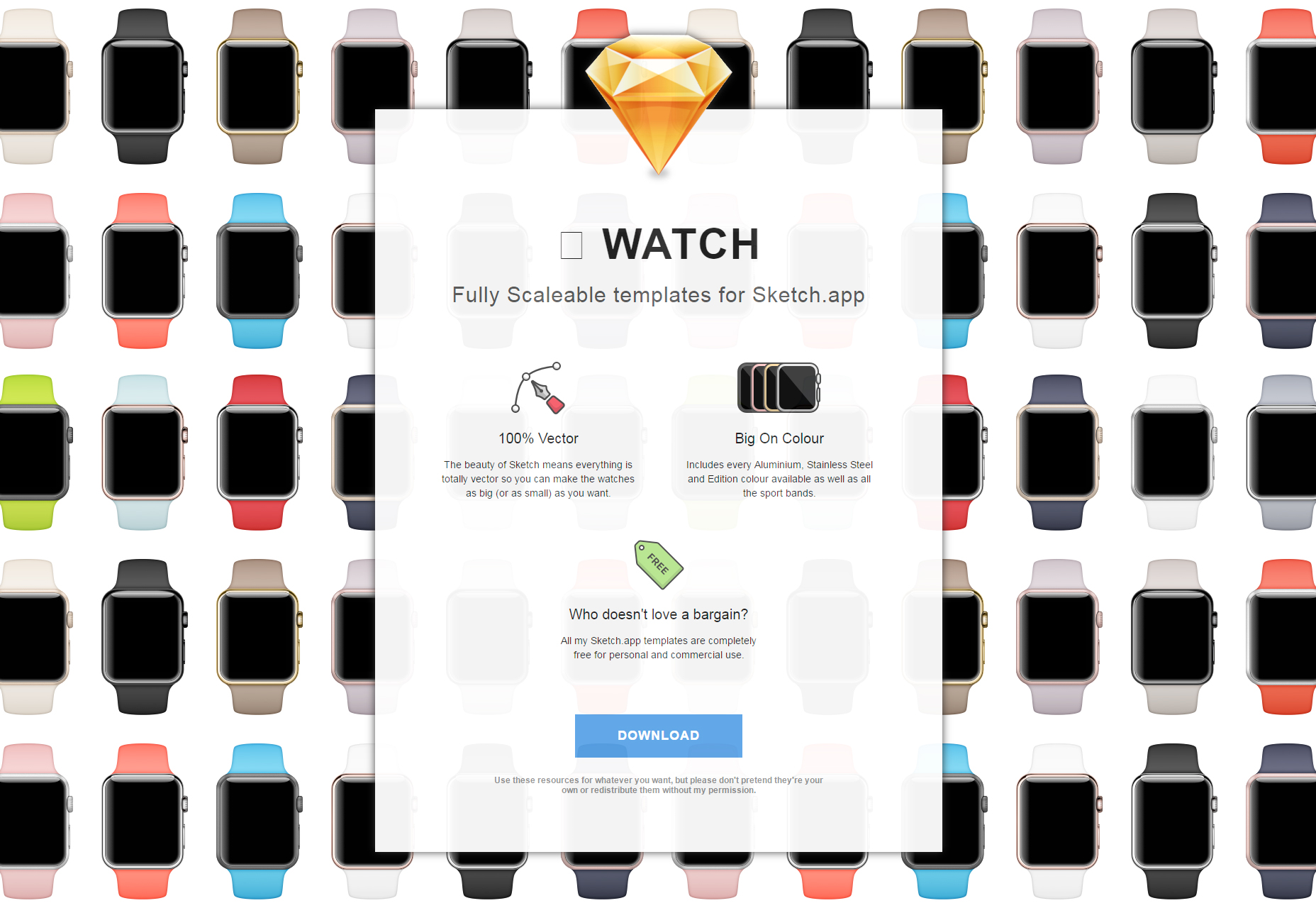 Sketch App Apple Watch Templates