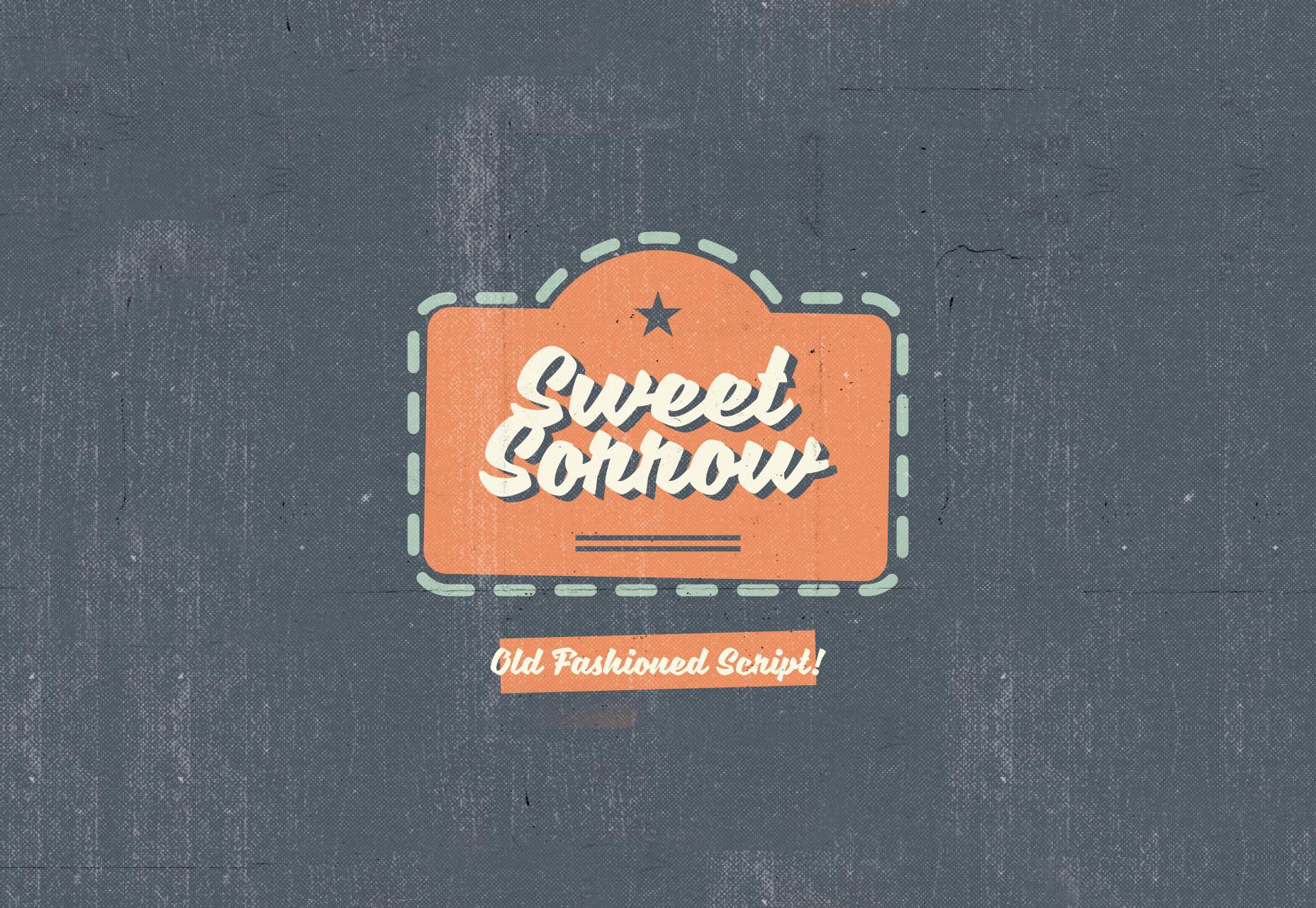 Sweet Sorrow: Old Fashioned Script Font