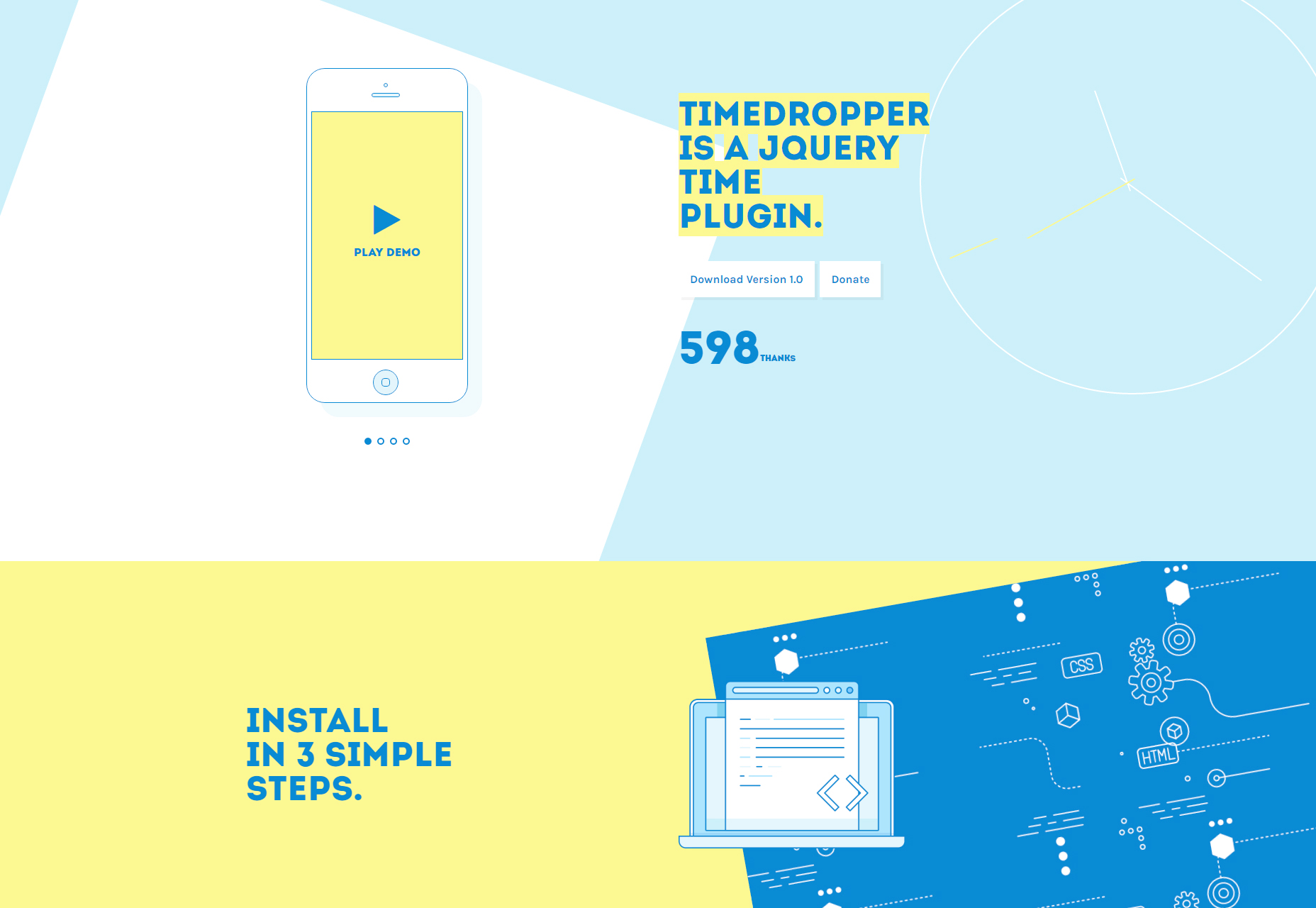 Timedropper: Beautiful jQuery Time Plugin