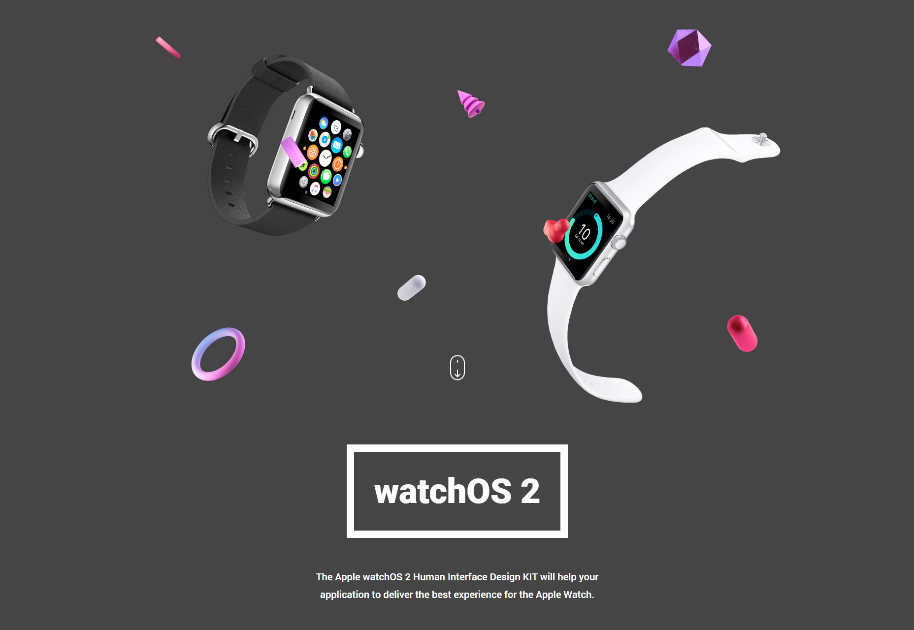 WatchOS2 User Interface Design Kit
