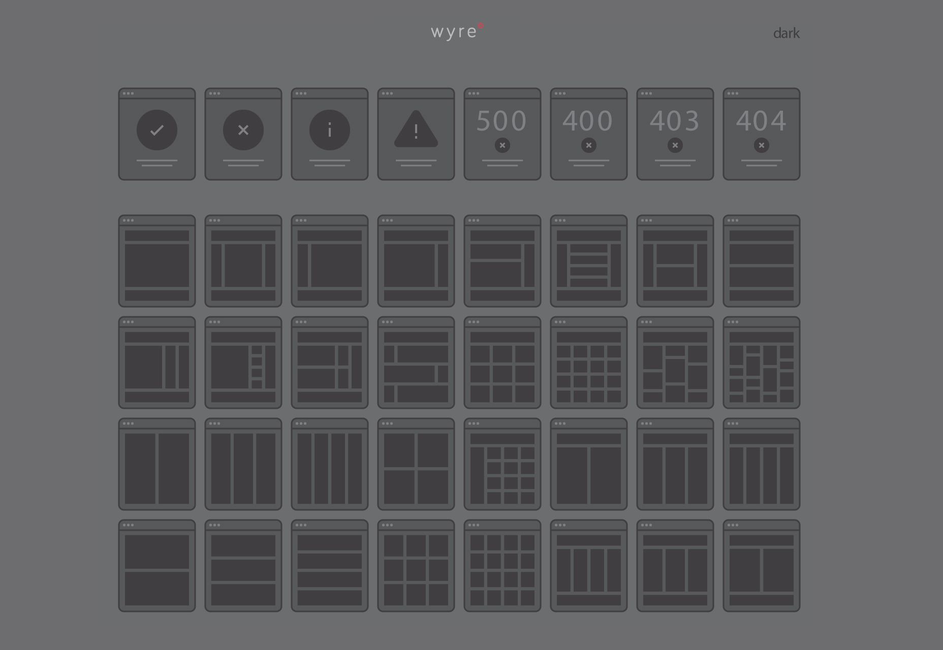 Wyre: Web Layout Tiles Flowchart Templates