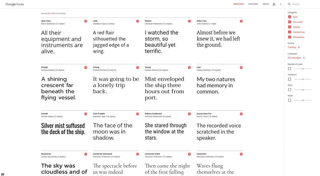 Google Fonts unveils huge redesign