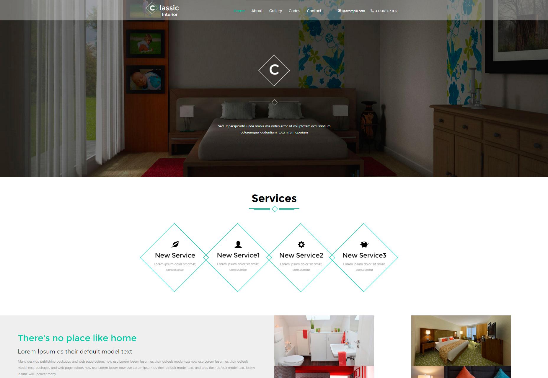 Classic Interior: Modern Interior Design Site Bootstrap Template