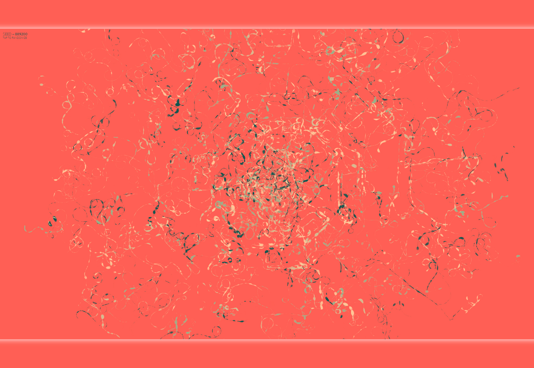Color-wander: Seeded Random Based Generative Artwork in Node/Browser