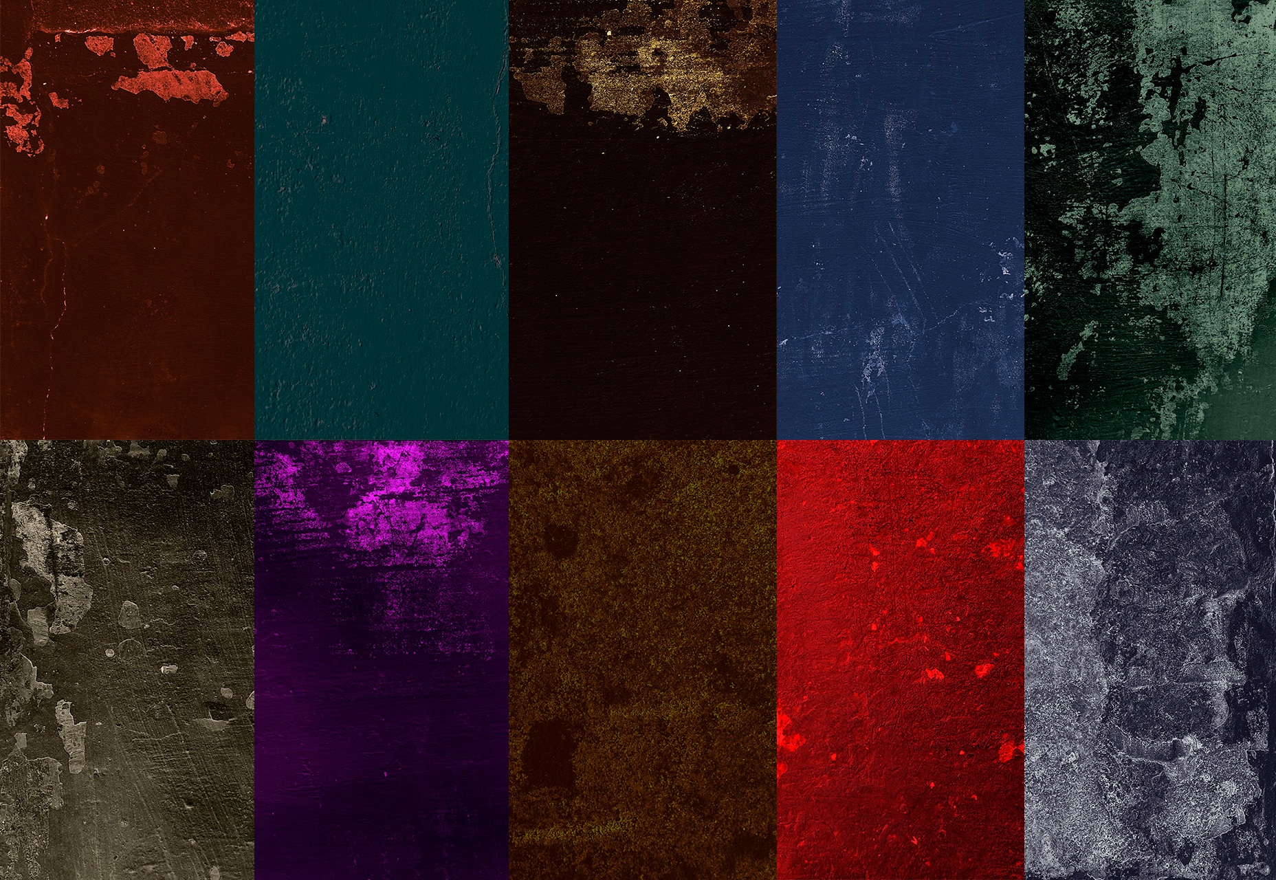 Dramatic Color Grunge Textures Pack