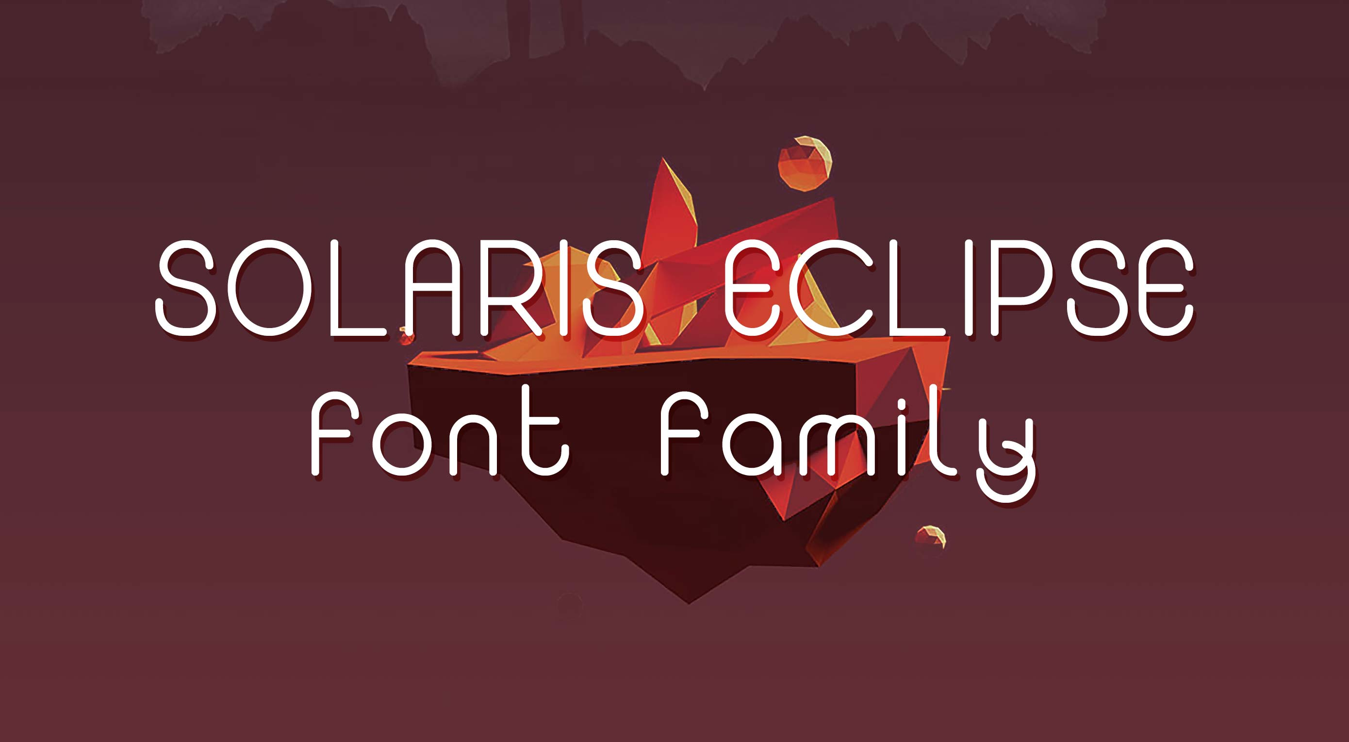 Free download: Solaris Eclipse font family