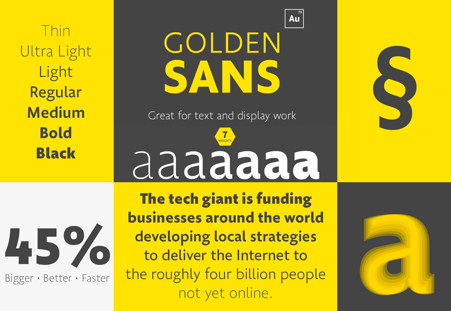 Golden Sans: Professional Multiweight Font
