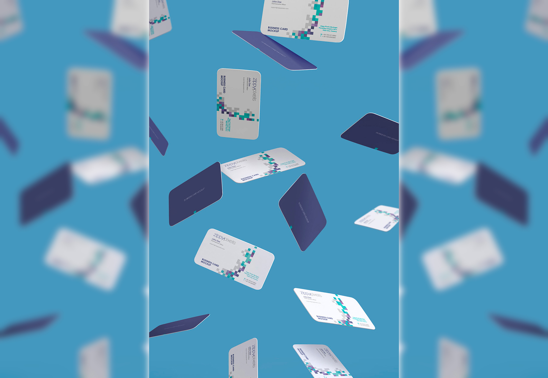 Gravity Business Card Smart Object Mockup