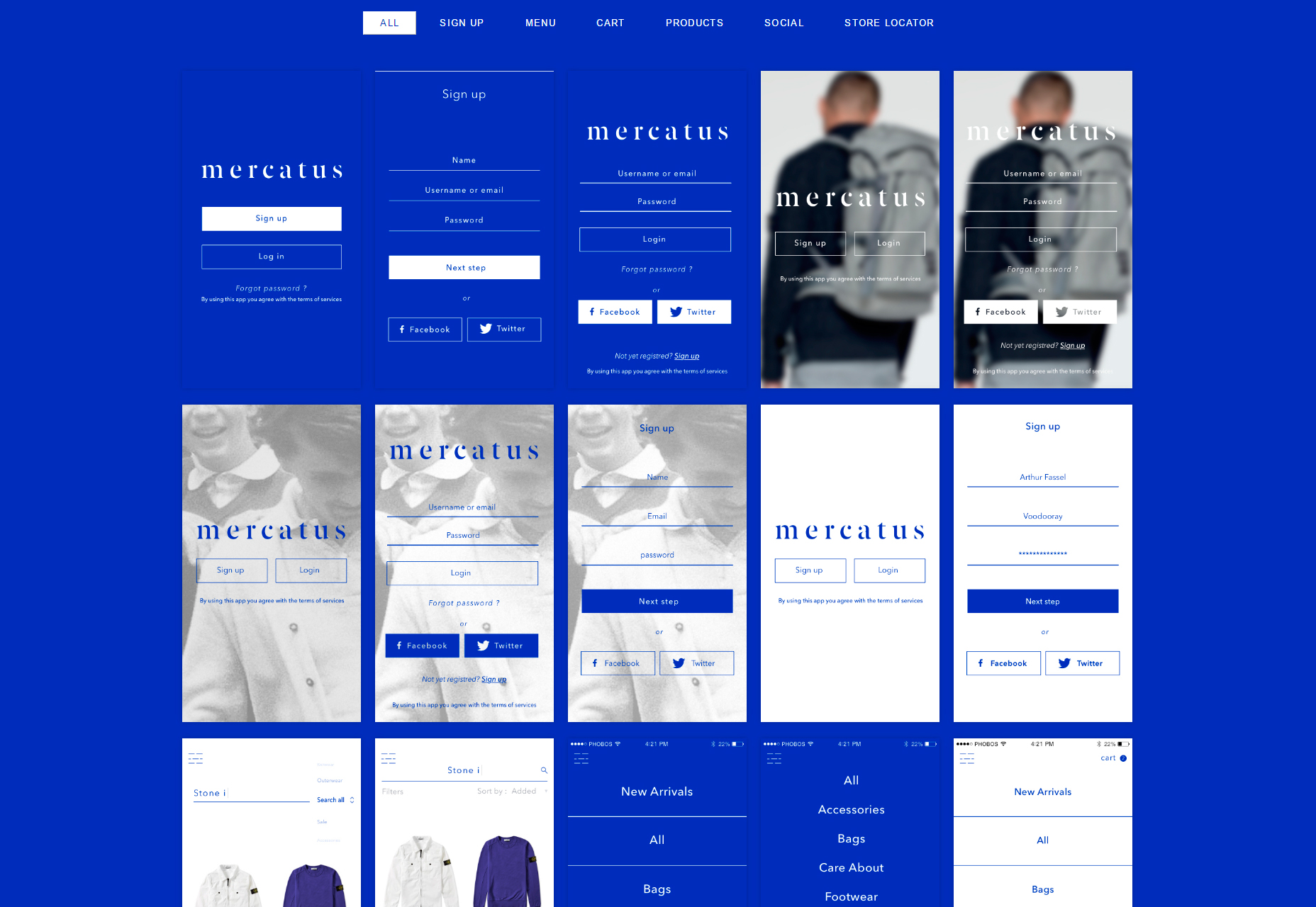 Mercatus: MCommerce Mobile UI Kit