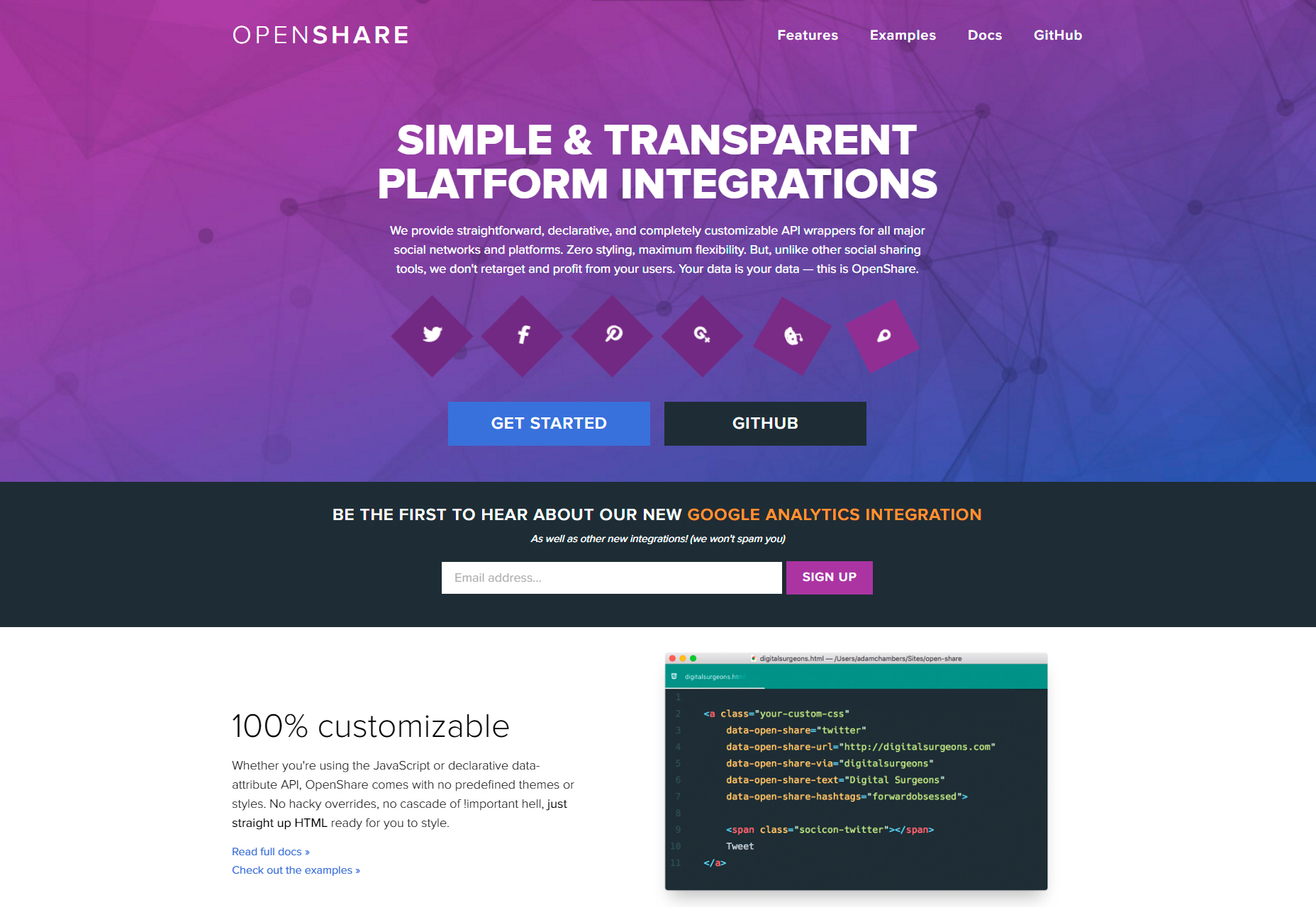 OpenShare: Customizable Social Platforms API Wrappers
