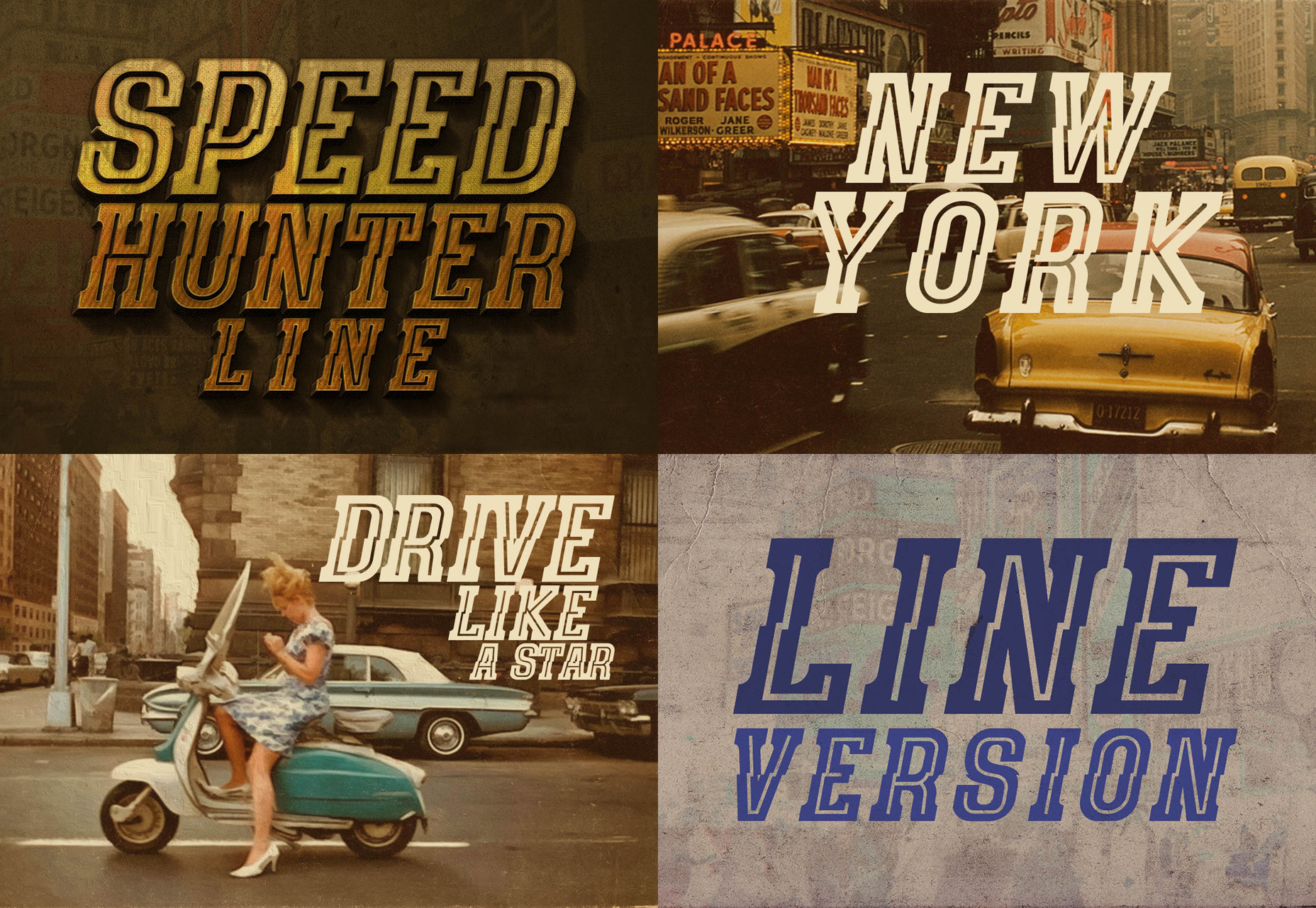 SpeedHunter: Vintage Central Line  Font