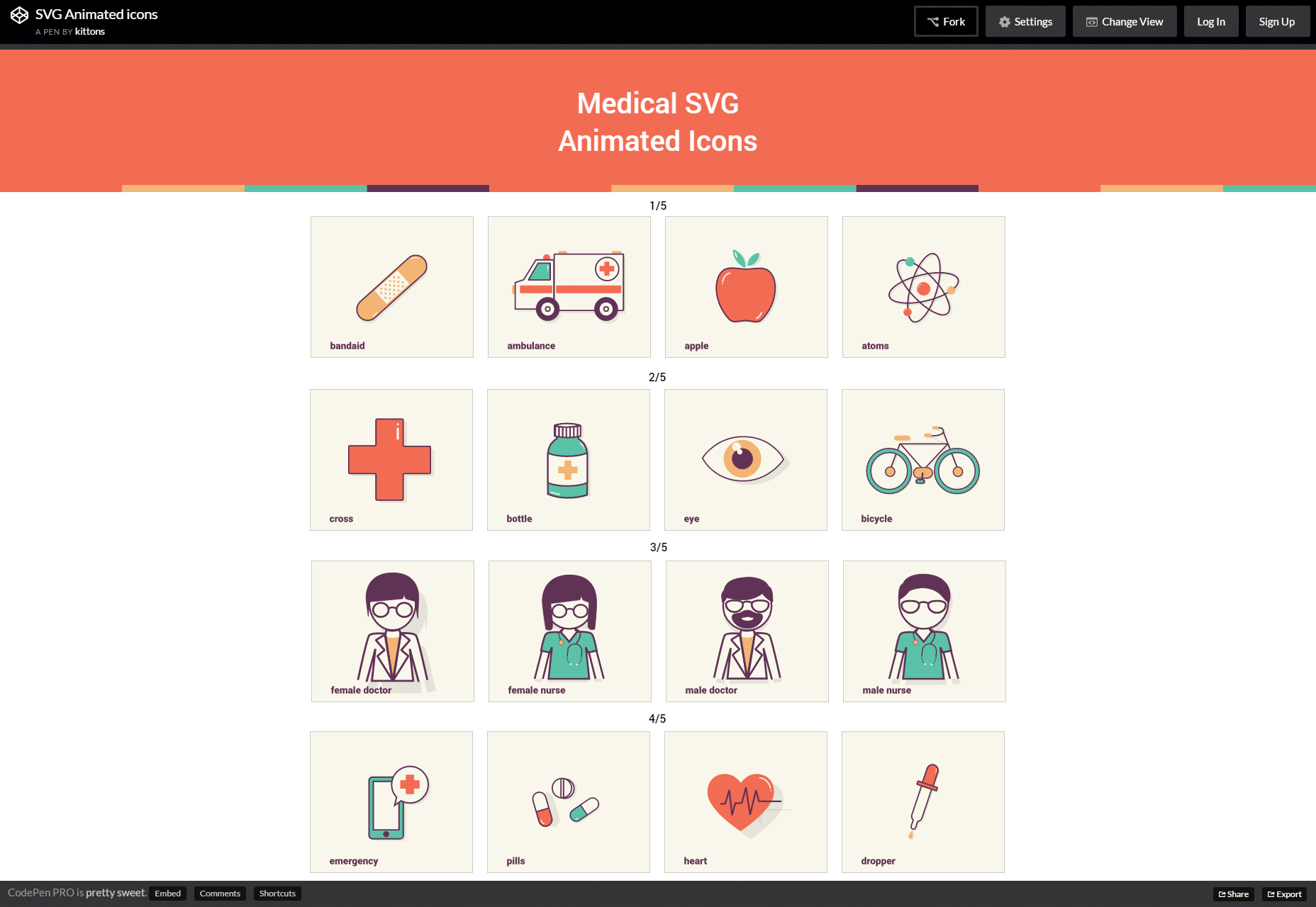SVG Animated Medical Icons