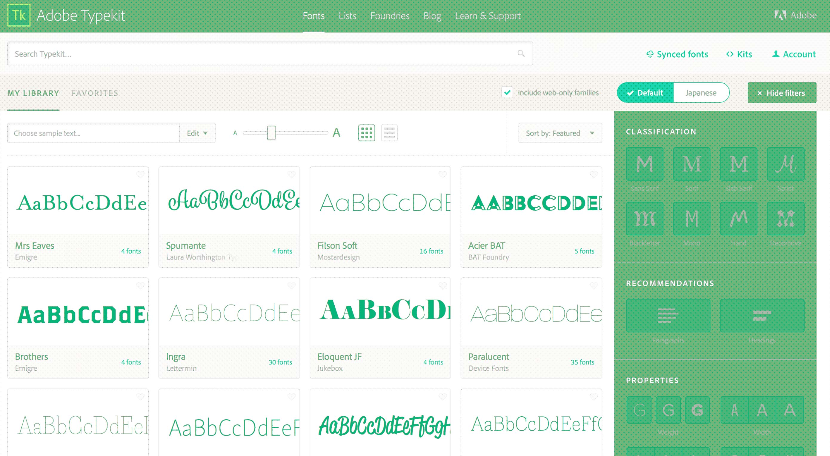 Adobe Typekit unveils major redesign