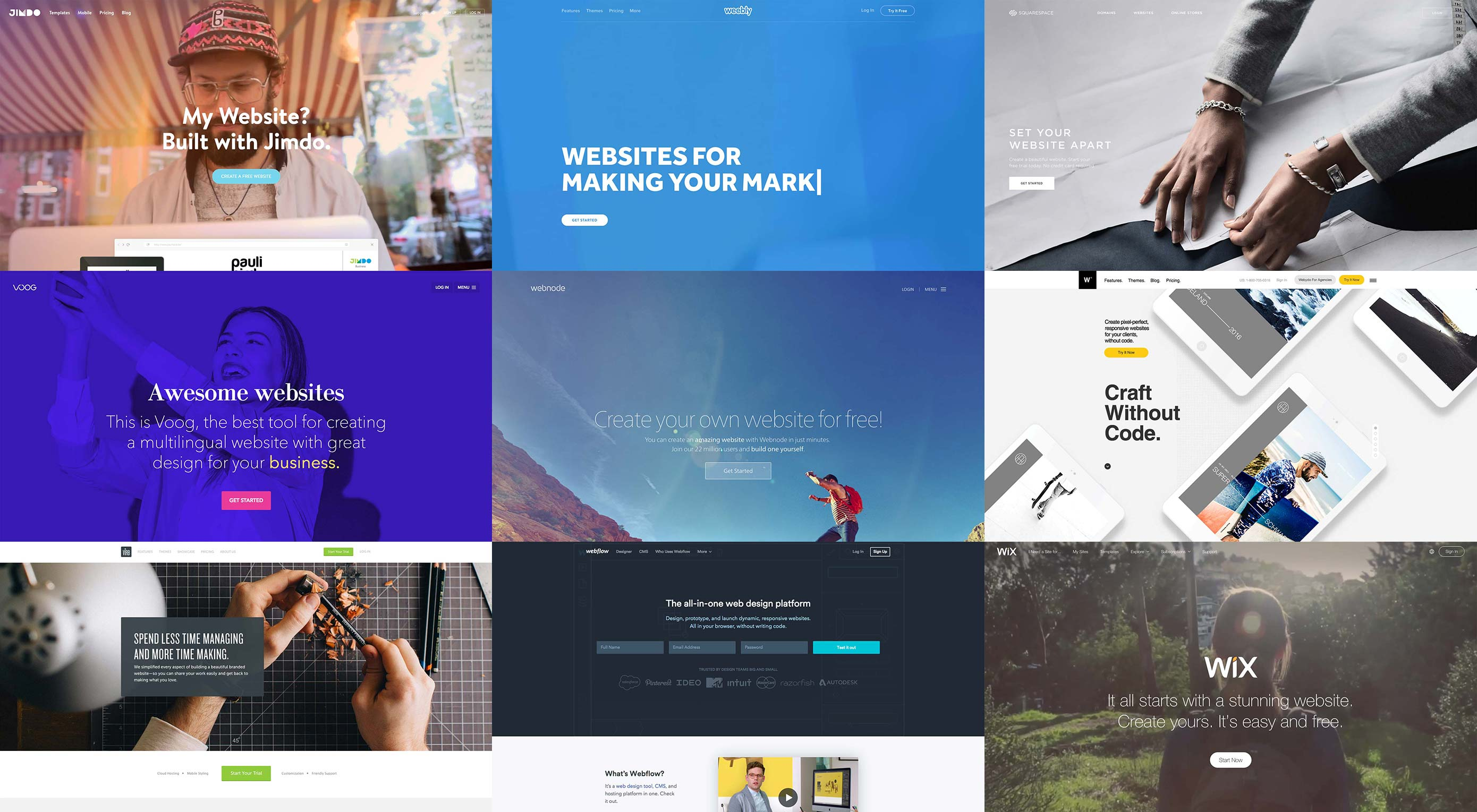 9 best site builders for designers