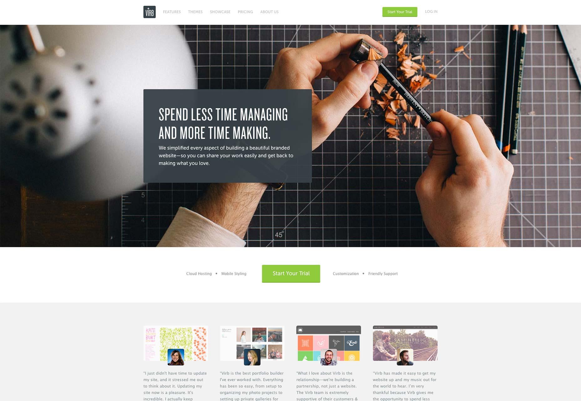 virb templates - 9 best site builders for designers webdesigner depot
