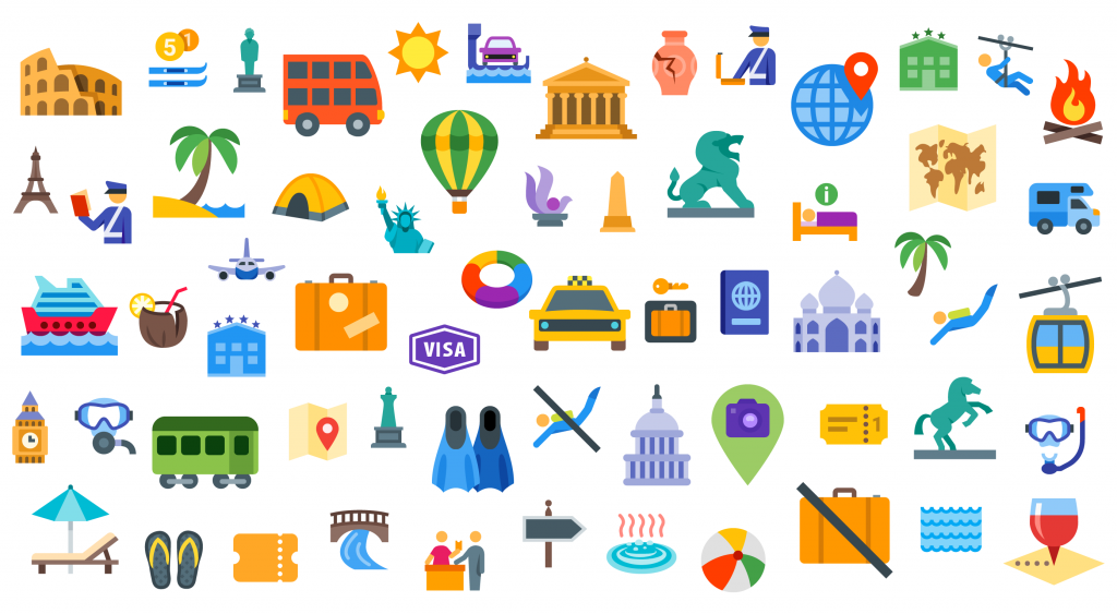 Free Download: 60+ travel icons by Icons8