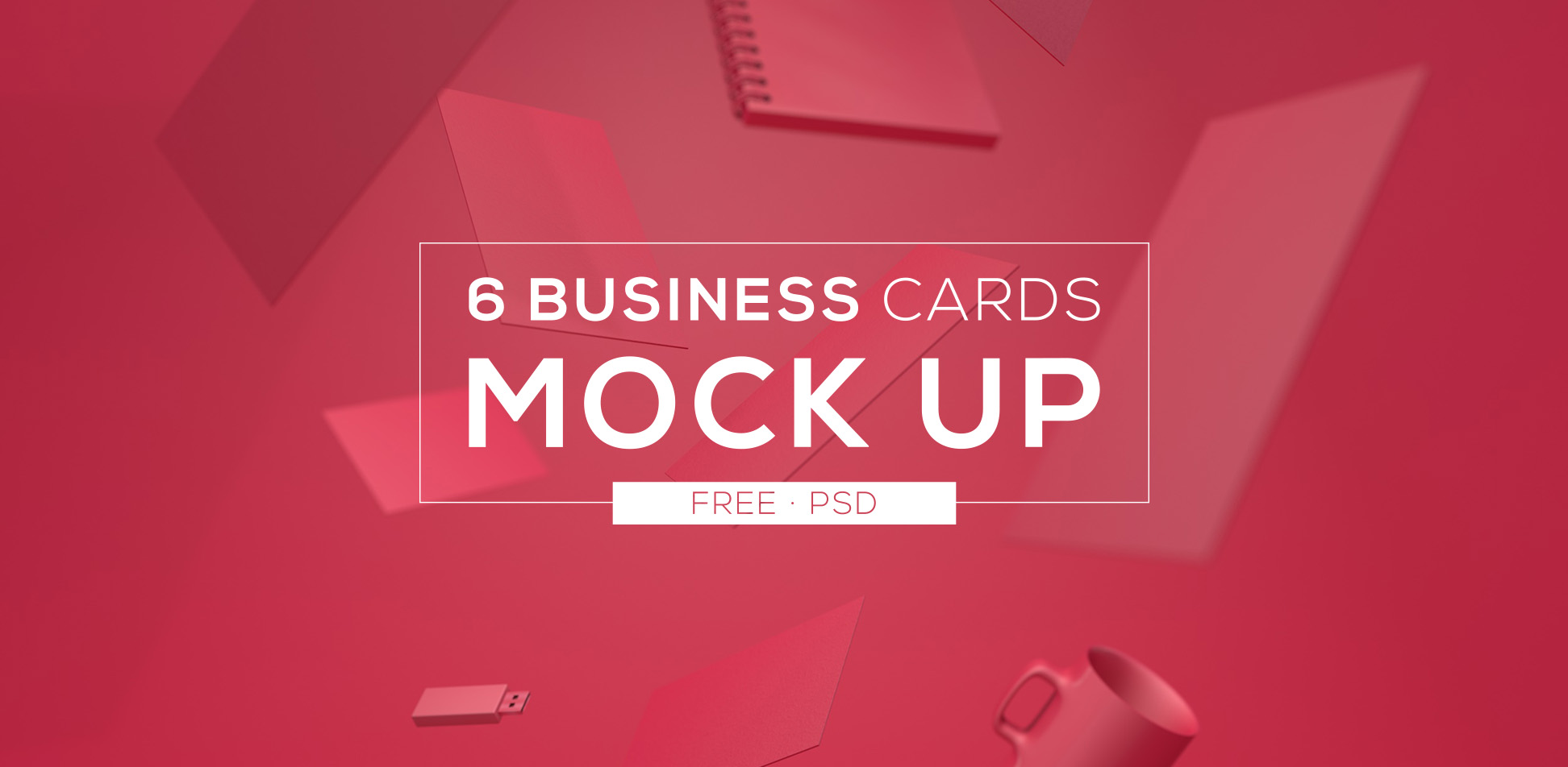 Free Download: 6 Business Cards Mock Up