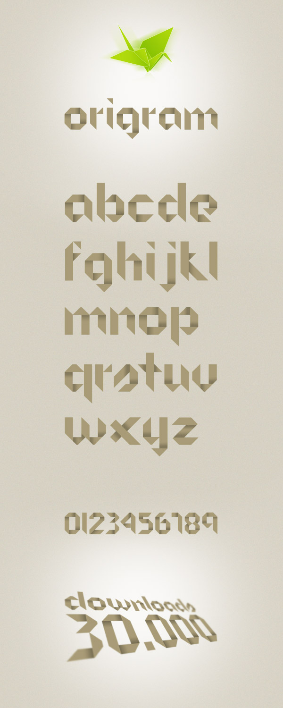 Free Download ORIGRAM Font