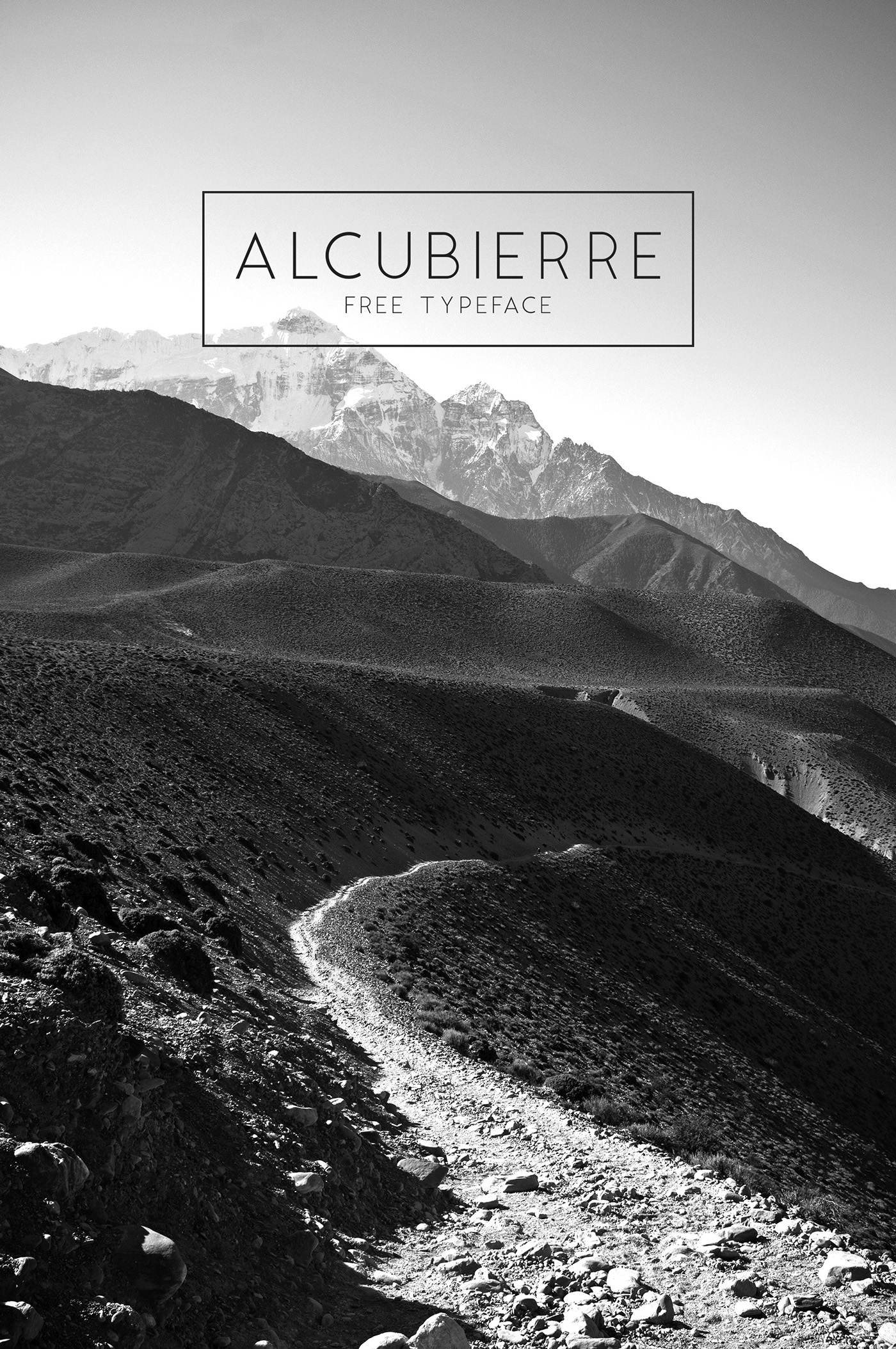 Free Download: Alcubierre Typeface