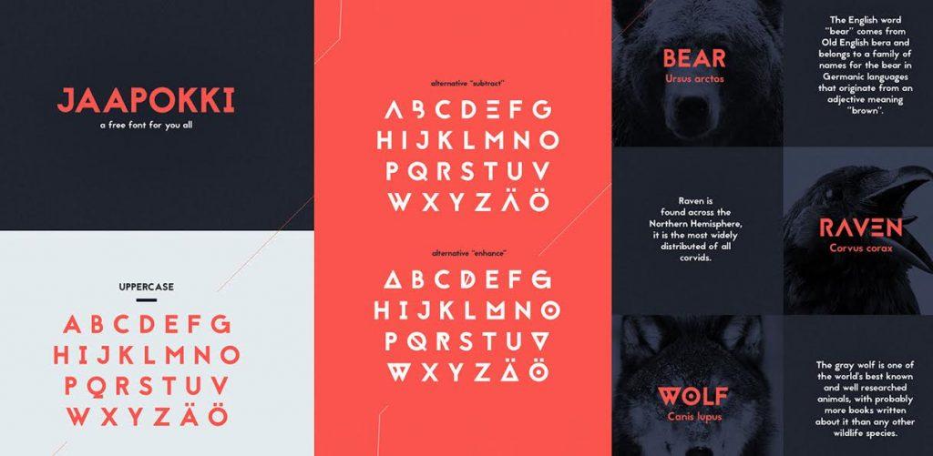 Free Download: Jaapokki Typeface