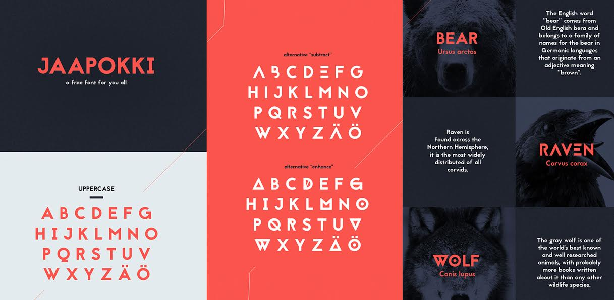 Free Download: Jaapokki Typeface